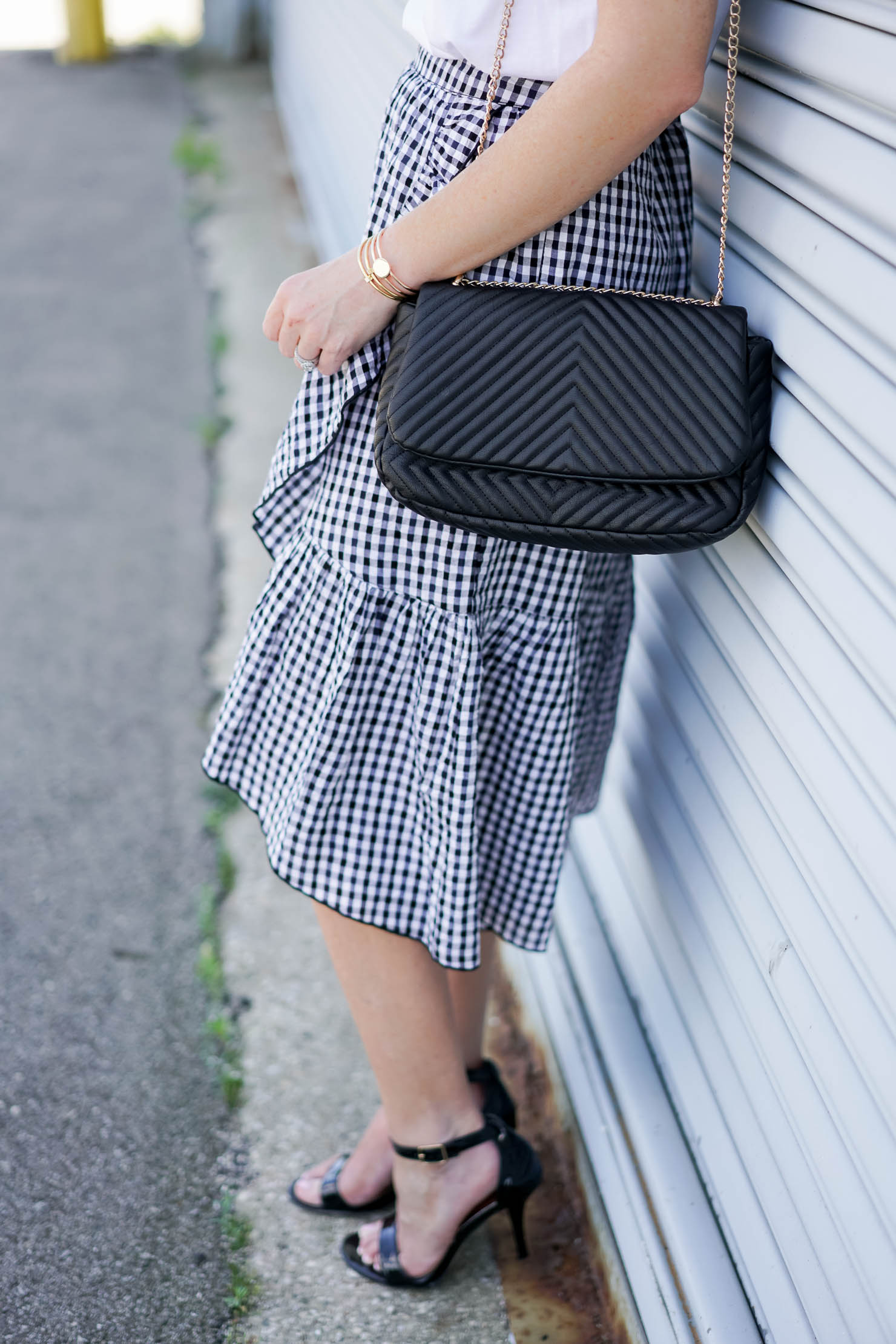 La Femme Parisian Chic In Gingham Ruffles Wishes Amp Reality