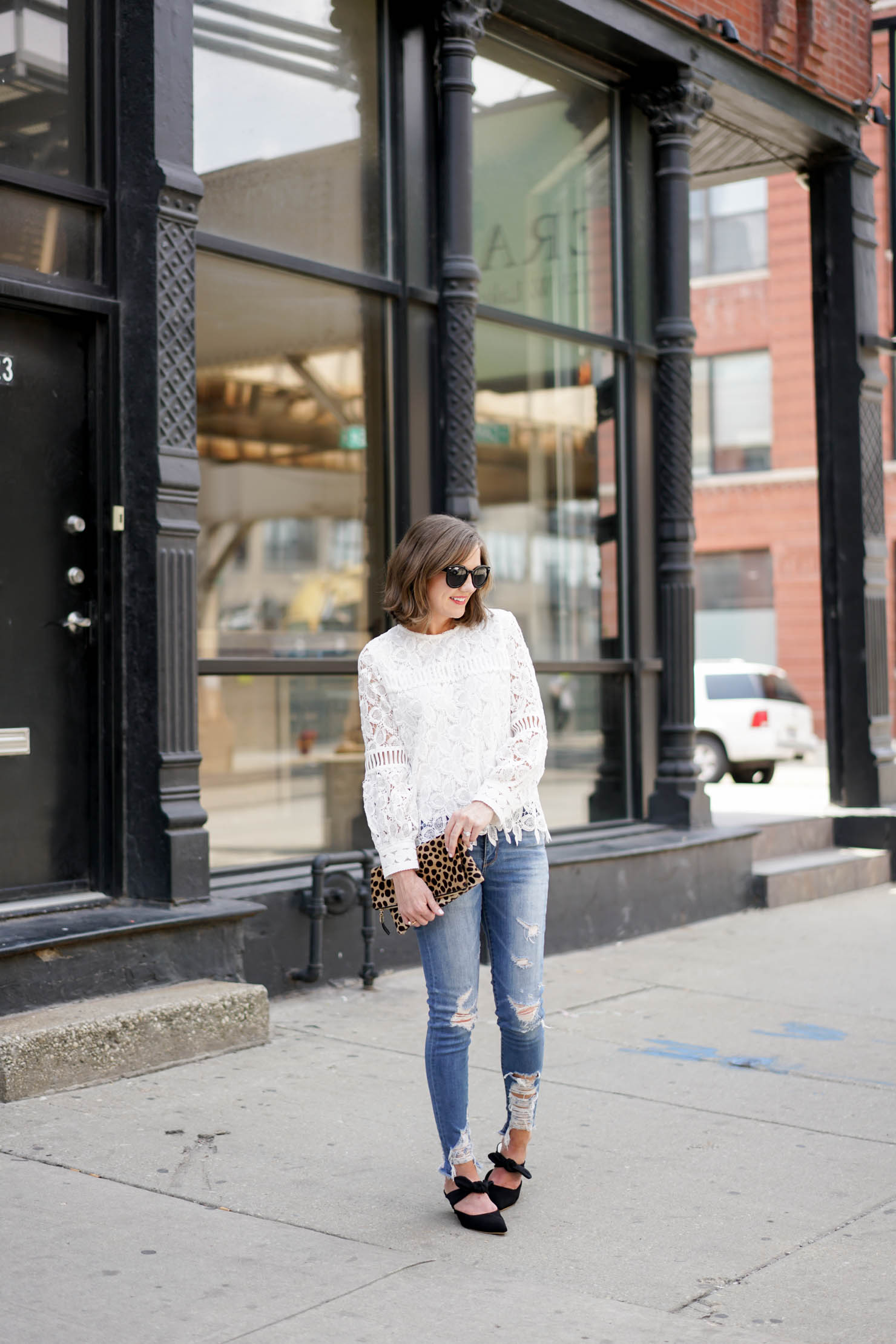 the most versatile lace top, the row coco mule dupe, my favorite fall outfit, how to dress down a lace top, the row coco mules for less