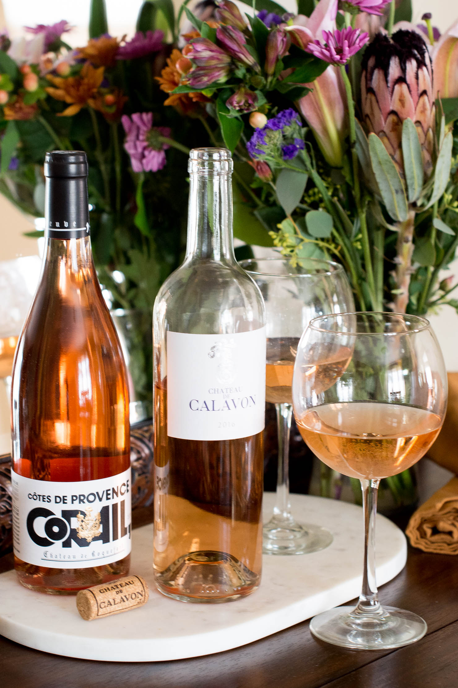 rosé food pairings for fall, wines de provence, rose all year