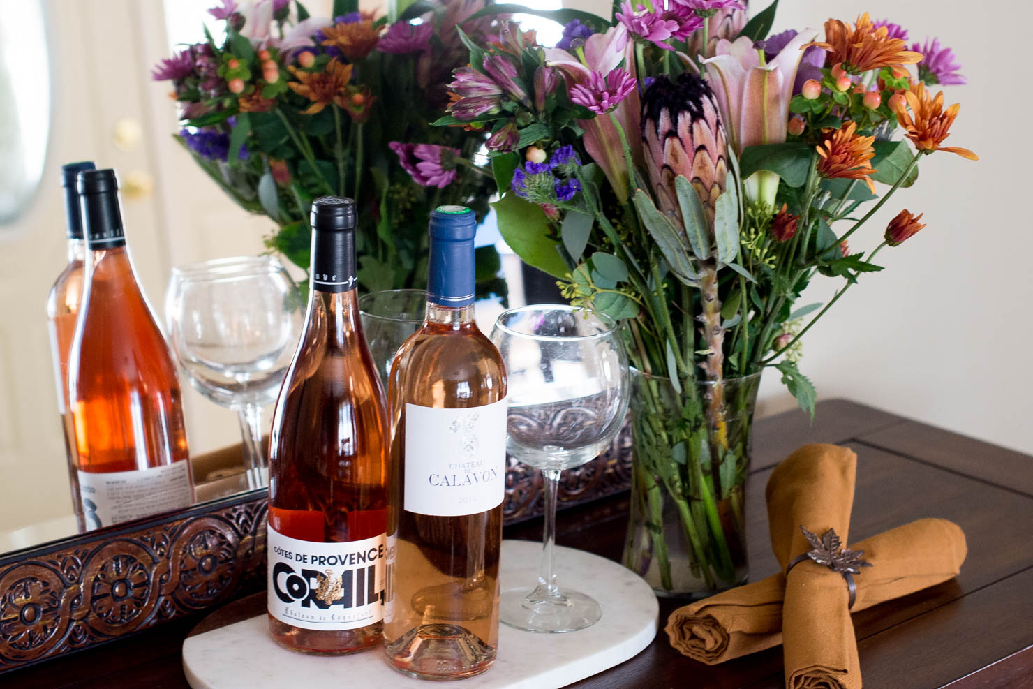 rose food pairings for fall, wines de provence, rose all year
