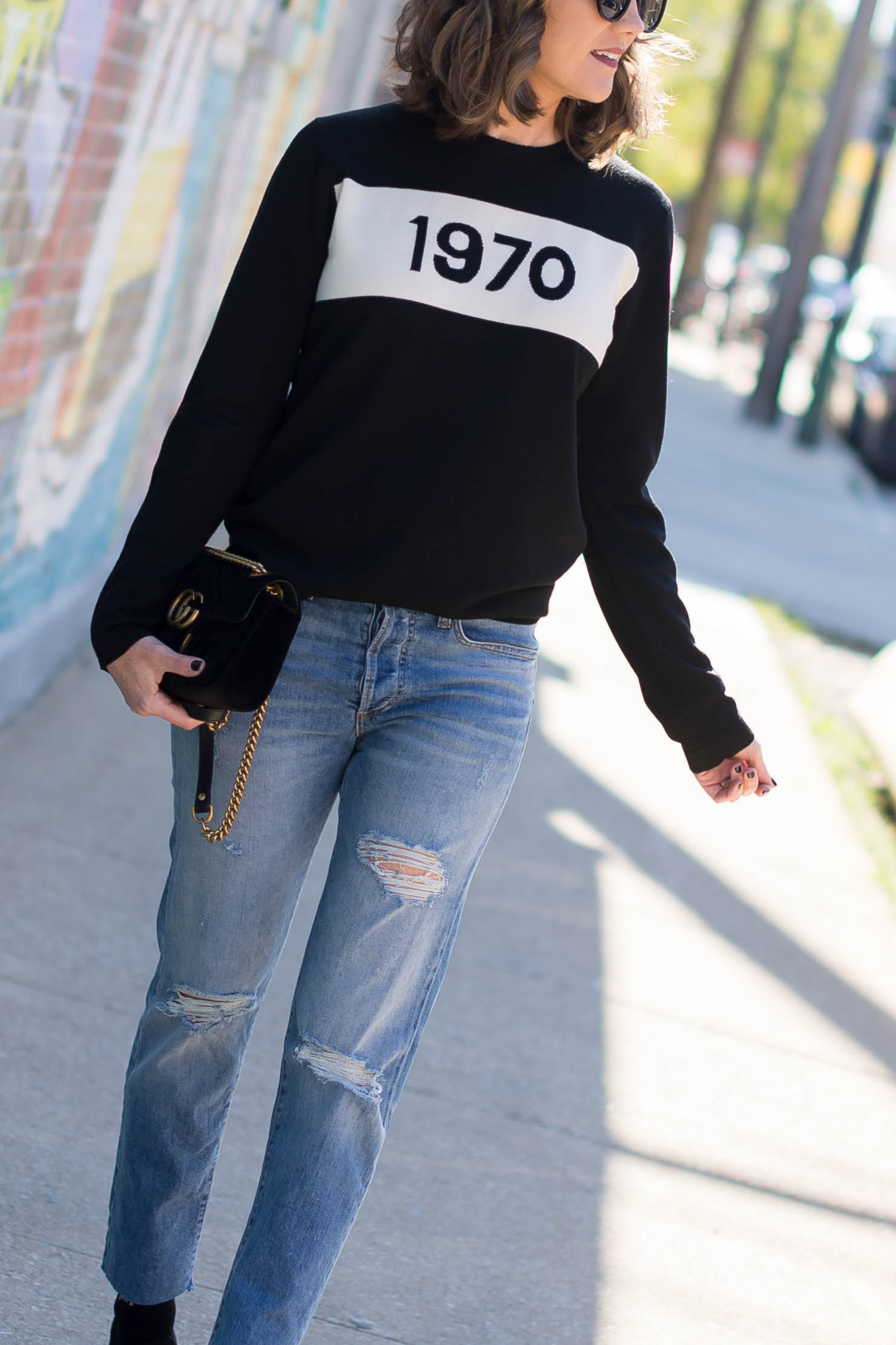 bella freud 1970 sweater my birthday, being an older fashion blogger, high low style, when to invest in clothes