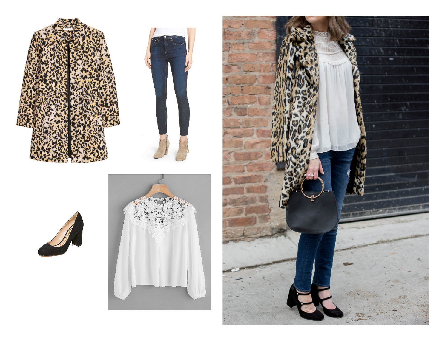 leopard coat, easy thanksgiving outfit ideas, casual thanksgiving look