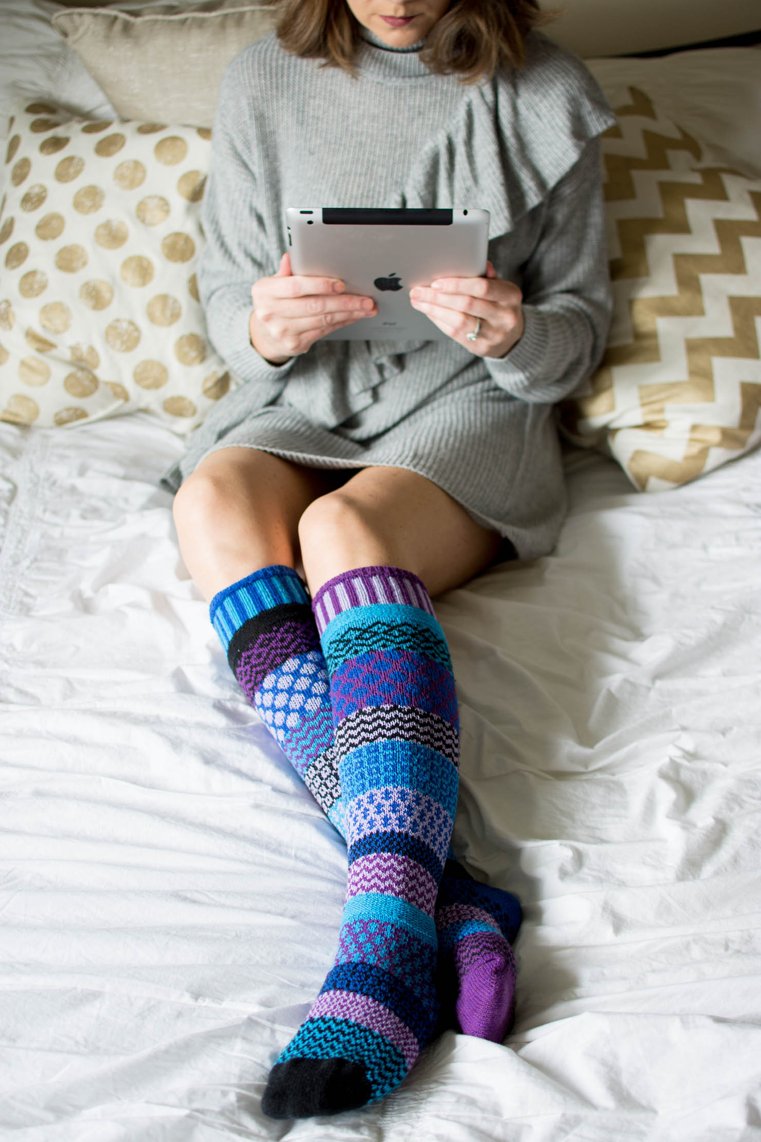 cozy socks, the best socks to give as holiday gifts, cozy and fun socks for the whole family, solmate socks