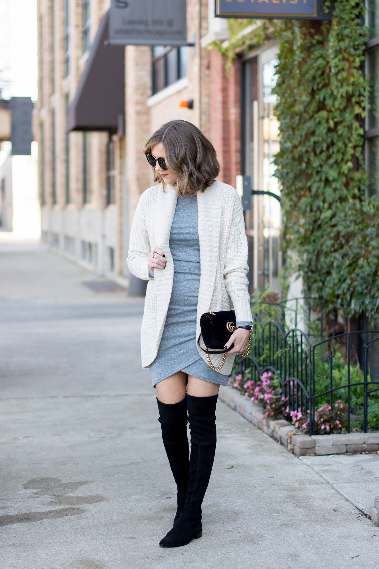 the dress that flatters every body type, the most versatile dress you'll own, the dress that flatters every body type, how to style a short dress in the winter, cozy layers