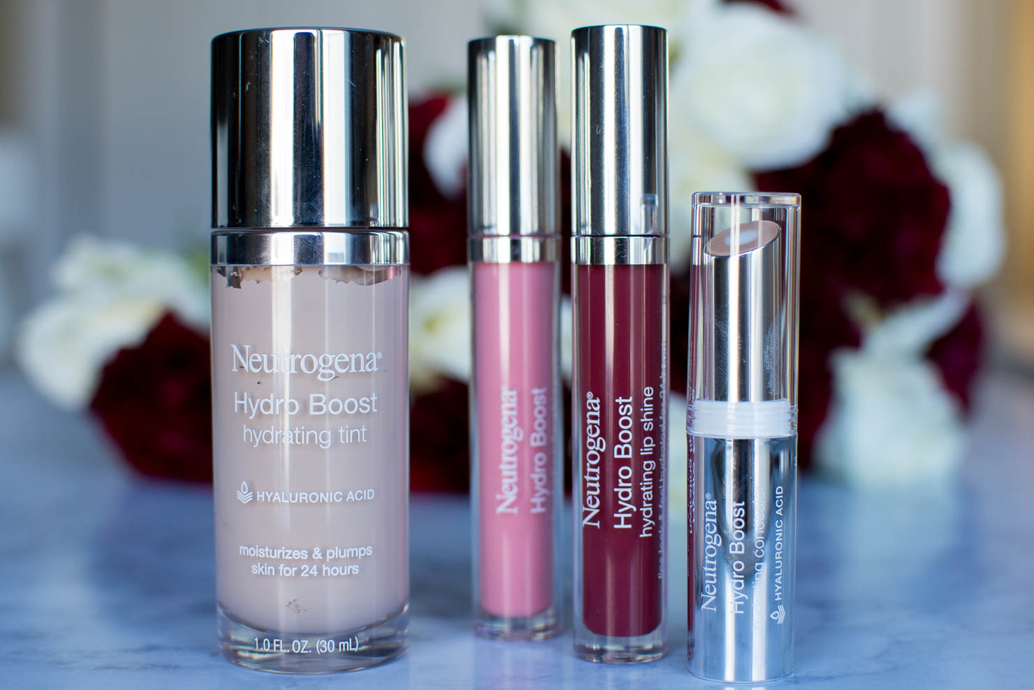 makeup that is good for your skin, Neutrogena Hydro boost Makeup, the makeup that's better for your skin than no makeup at all, hydrates and plumps, makeup thats good for your skin