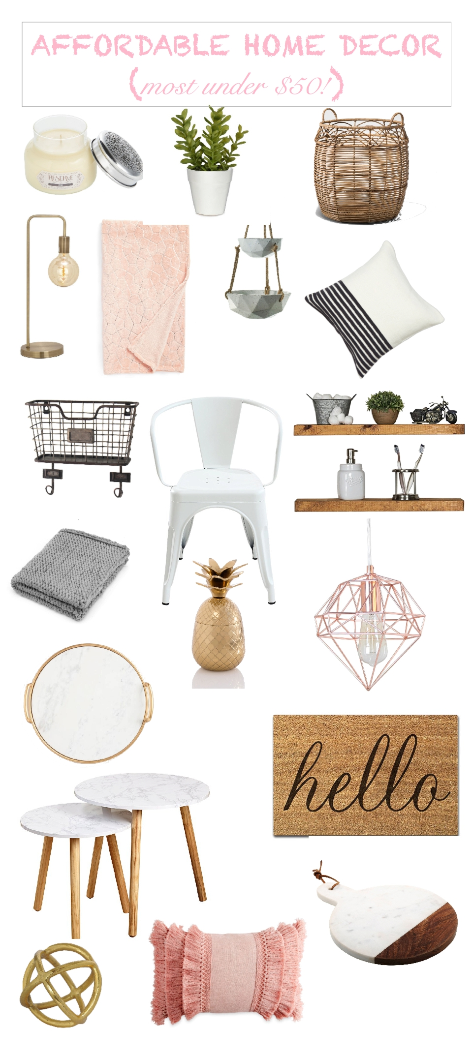 affordable spring home decor updates under $50