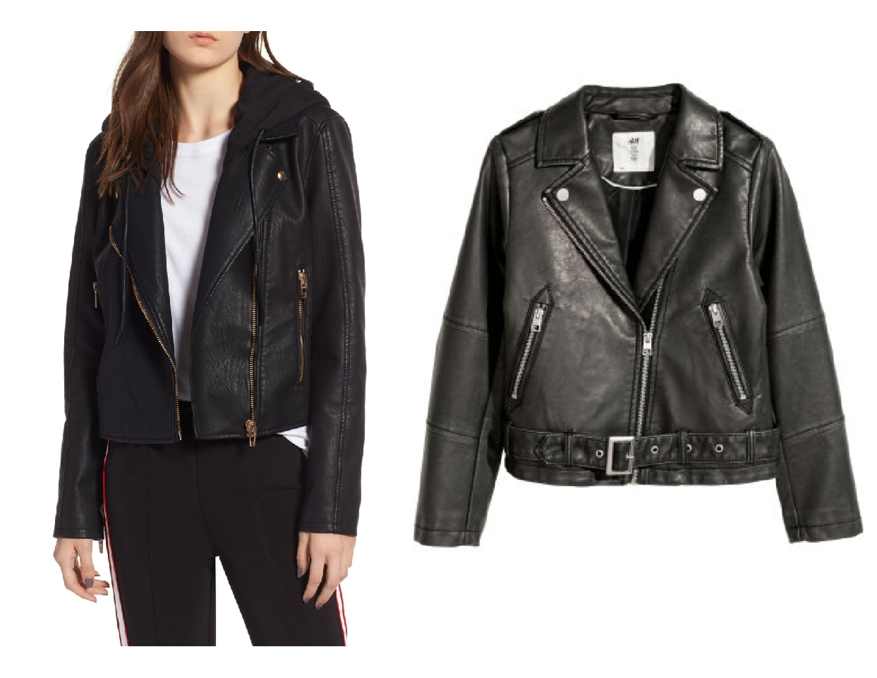 nordstrom anniversary sale dupes, black moto jacket