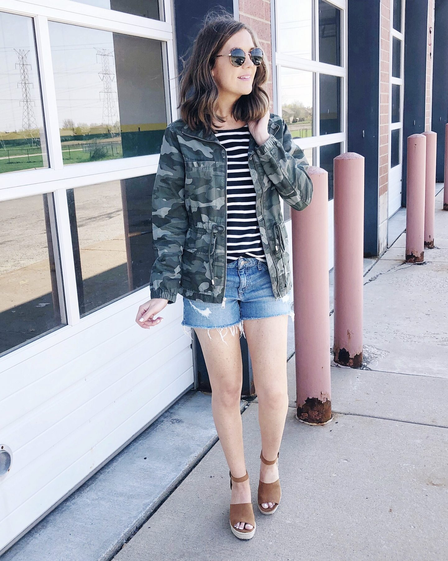 5 ways to style the camo field jacket, camouflage jacket, camo cargo jacket, casual outfit, mom style