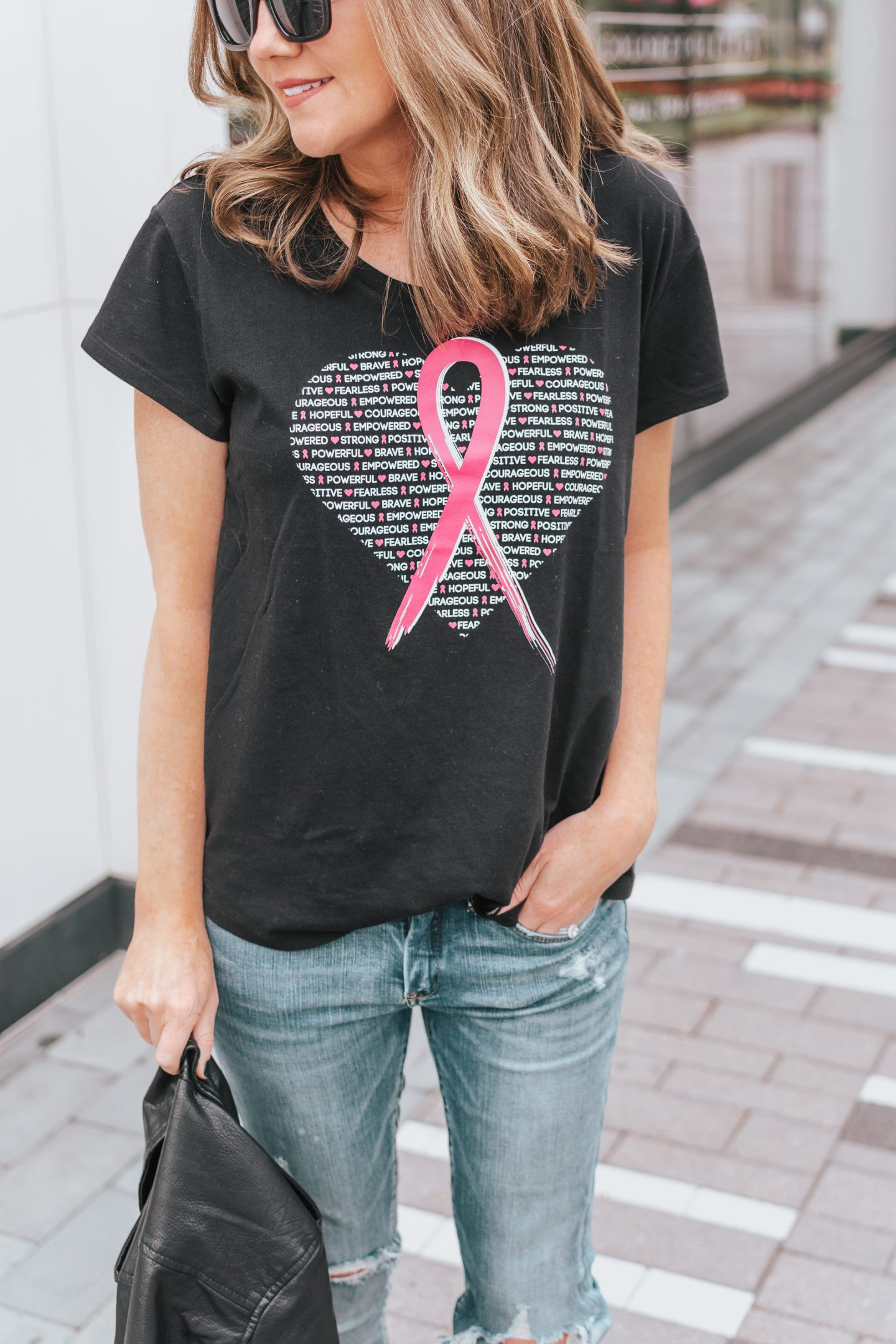 Beauty in Courage, Power in Strength, Women are fearless, strong, powerful and courageous, JCPenney, breast cancer awareness, City Streets BCAM screen tee, we are courageous, women, and the fight to end breast cancer
