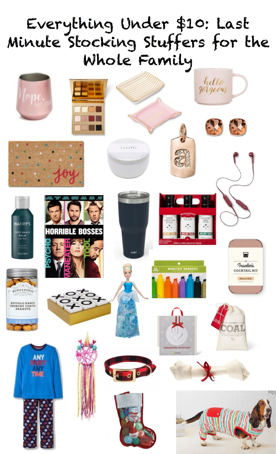 Under $10 Stocking Stuffers, gift guide, Under $10, last minute stocking stuffers for the whole family