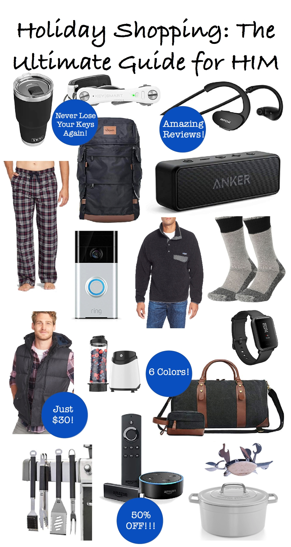 Ultimate Holiday Gift Guide for Men, holiday shopping, Christmas shopping, gift guide for him, what to buy husband, boyfriend, father
