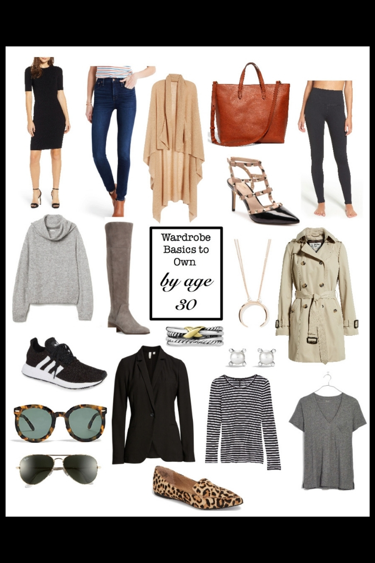 wardrobe basics you should own by age 30, wardrobe classics, capsule wardrobe, wardrobe building blocks