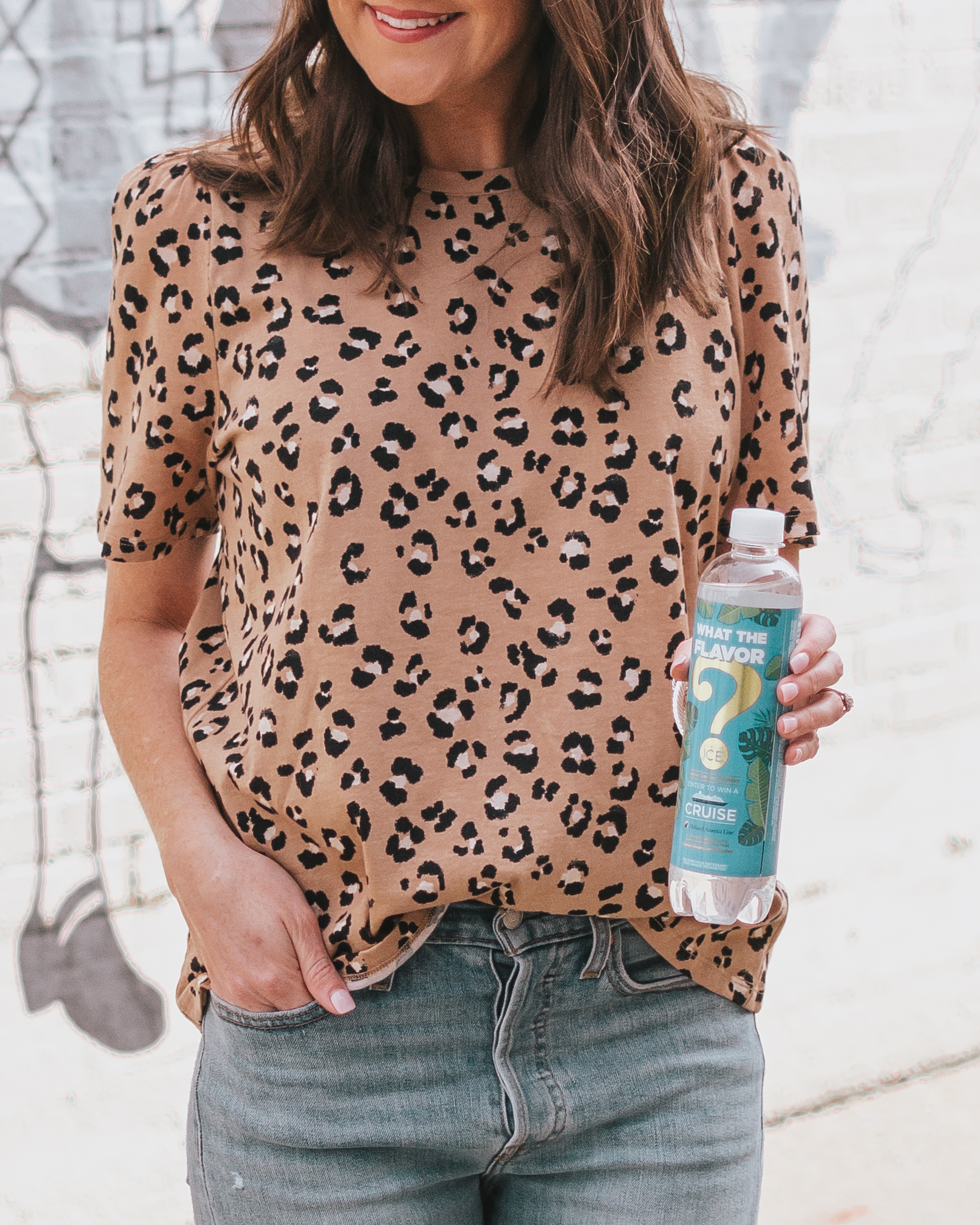 how I enjoy the season change, sparkling ice mystery flavors, leopard tee