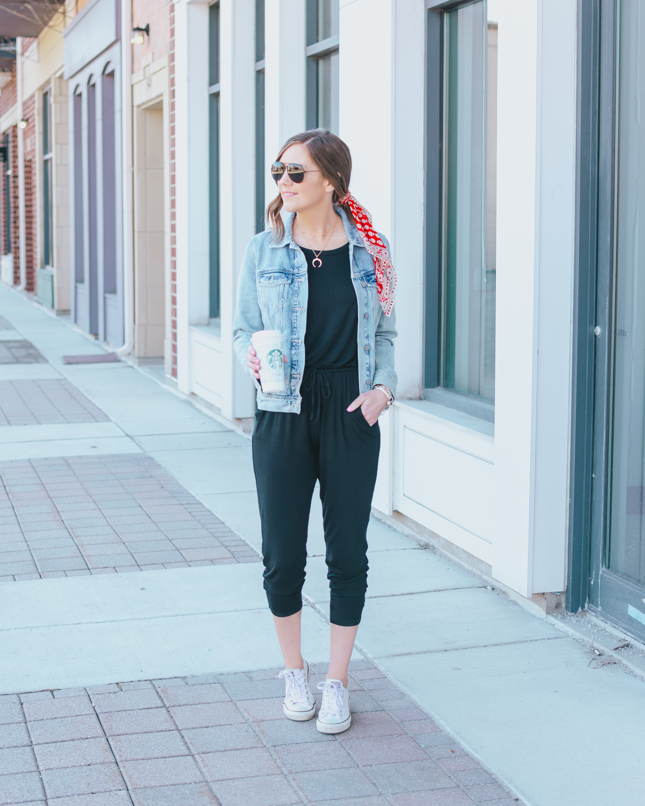 how to style a black jumpsuit, 2 ways to style a jumpsuit, black Express jumpsuit, dressy and casual