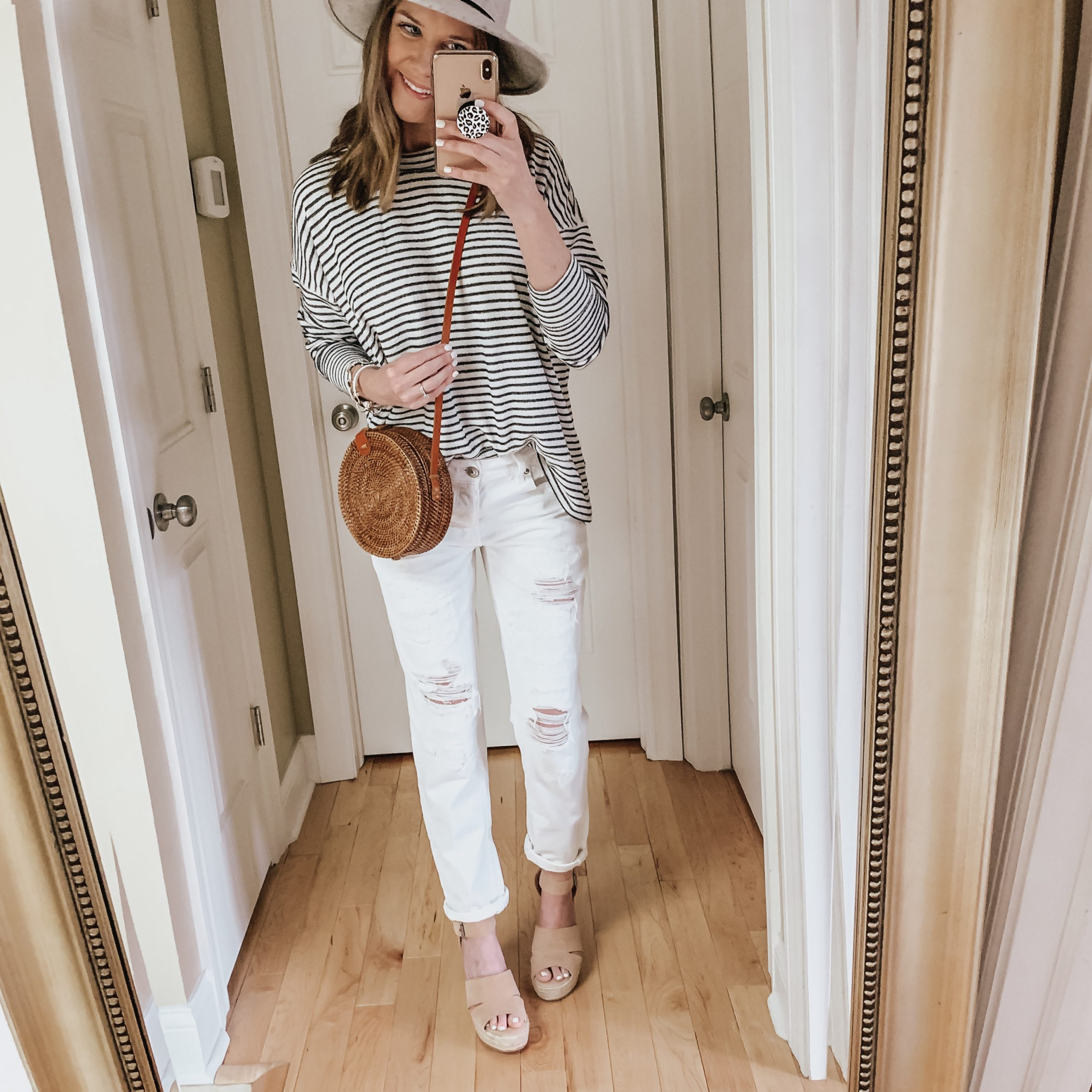 transitional spring outfits, straw crossbody bag, Amazon fashion