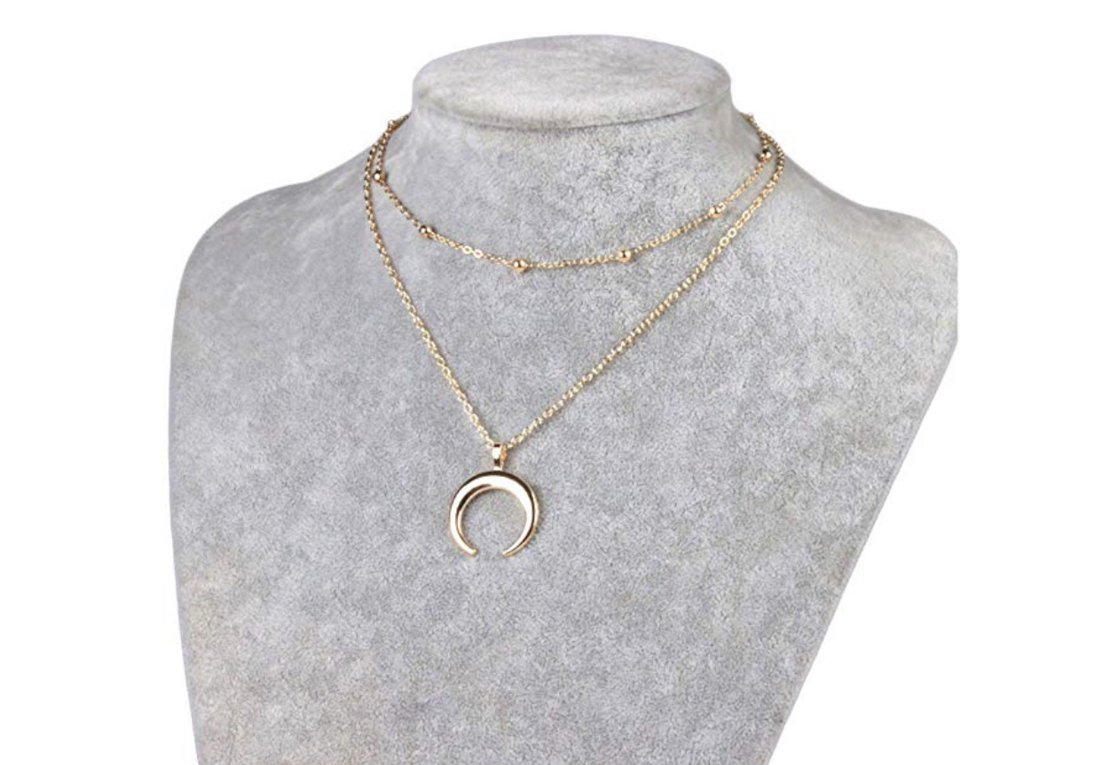 Amazon finds, crescent necklace, affordable jewelry