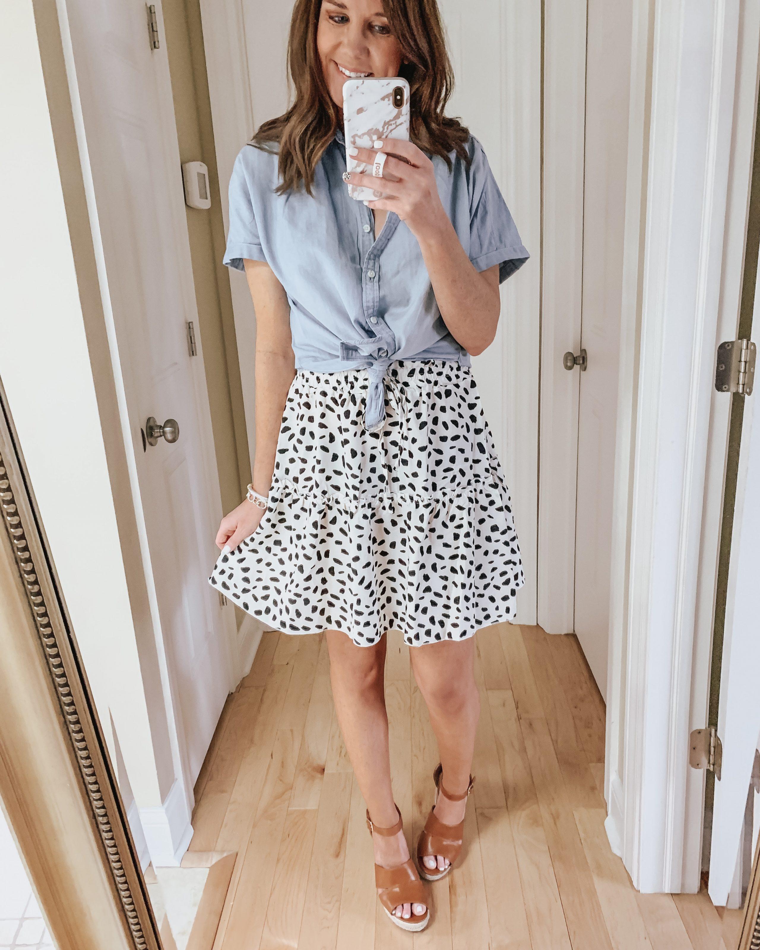 Amazon tiered mini skirt