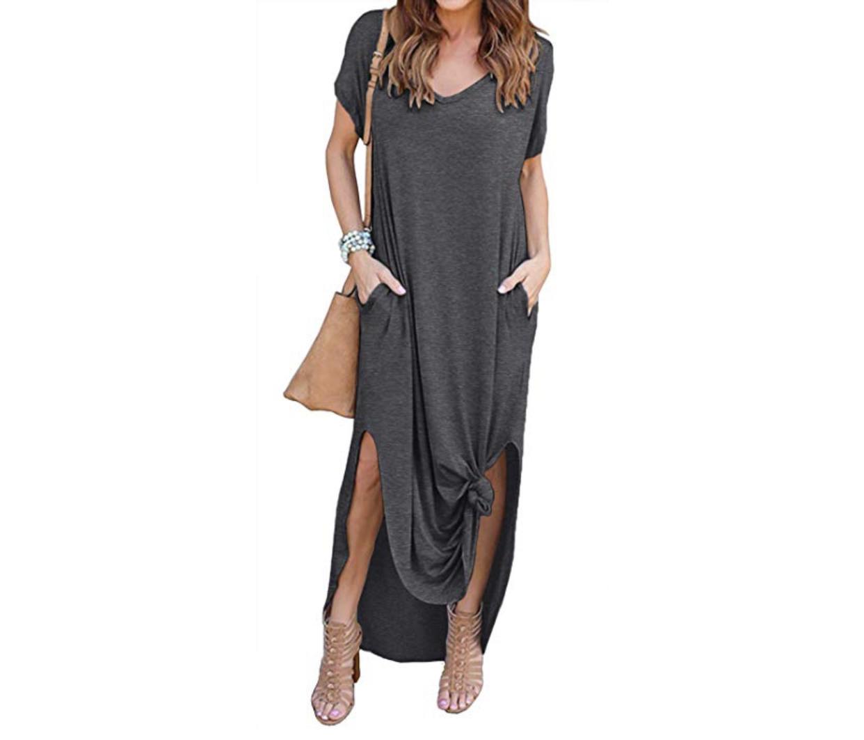 casual wardrobe basics, maxi dress, casual dress, versatile dress, amazon fashion