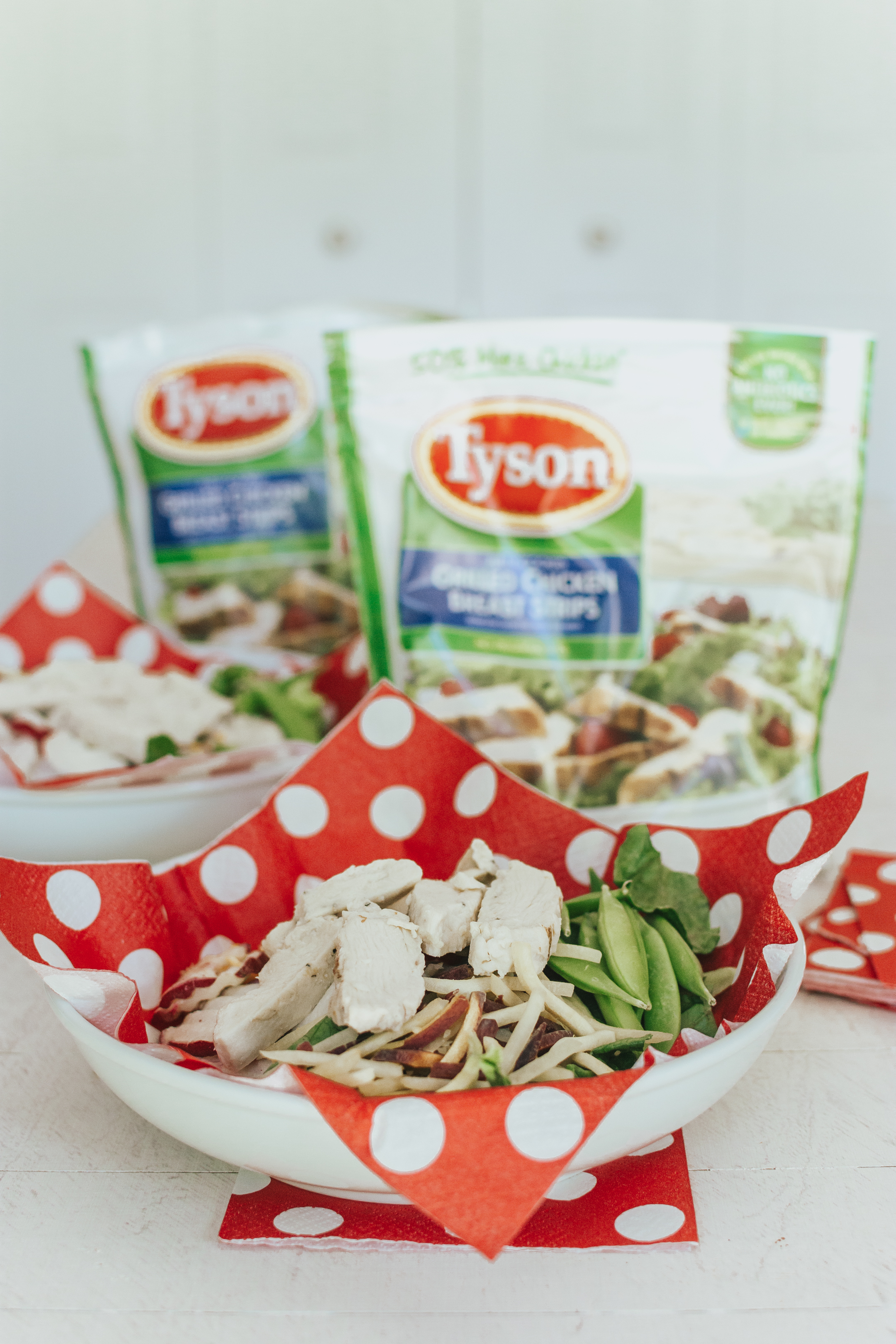 Tyson precooked chicken strips, easy back to school lunches and snacks, easy weeknight meals