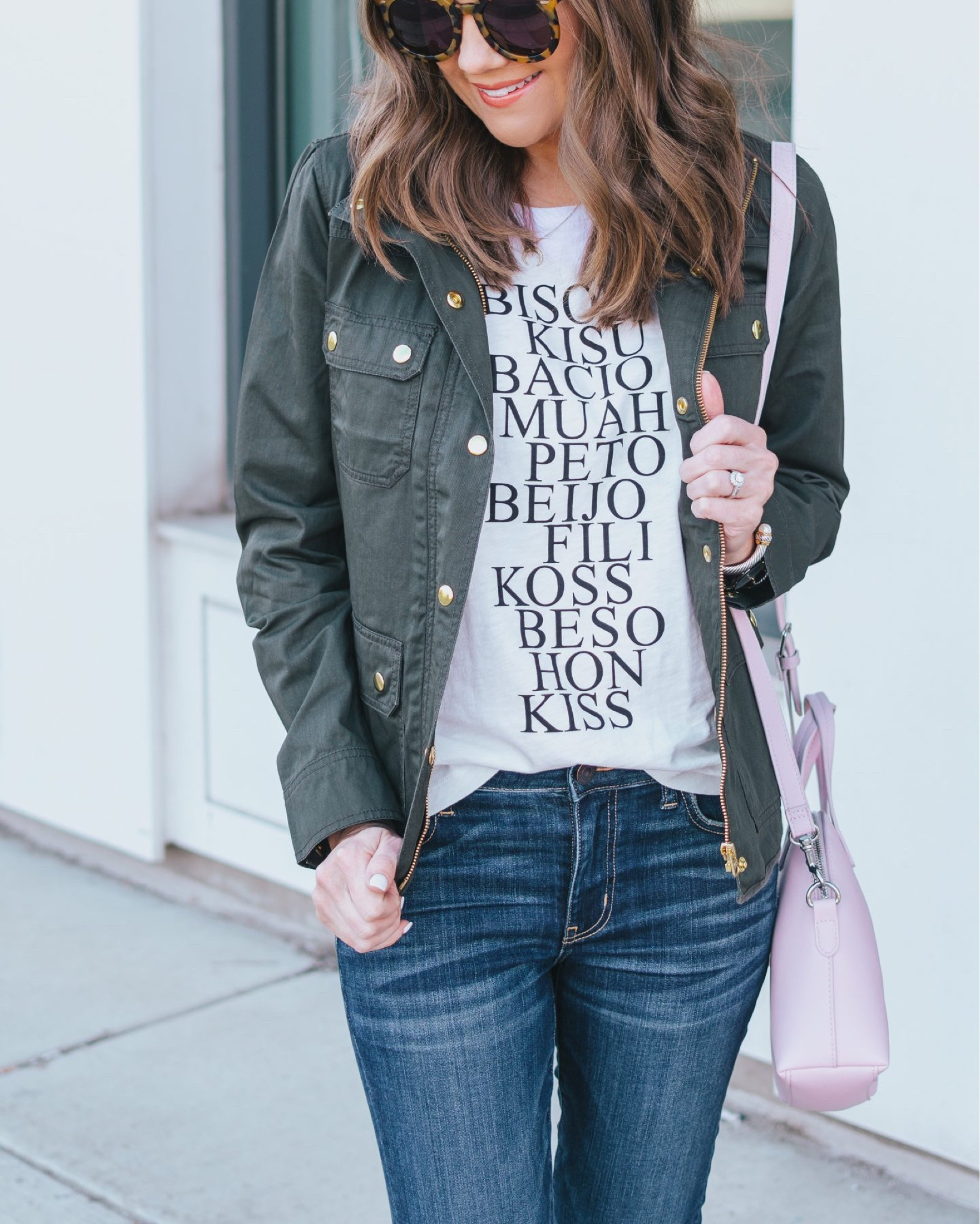 versatile summer fashion, J. Crew Factory coated utility jacket, graphic tee