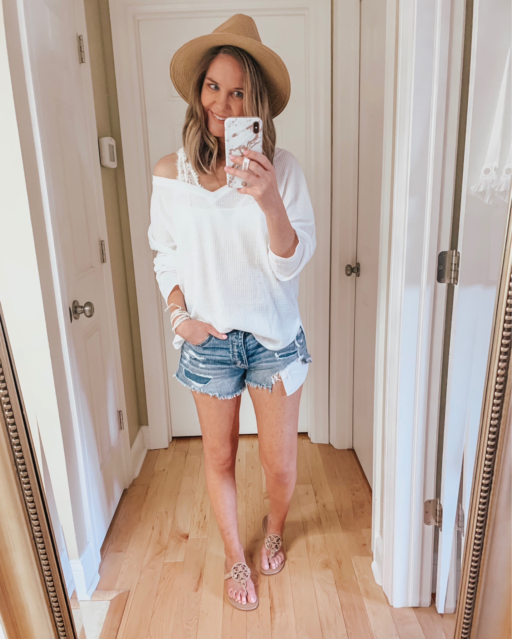 Summer Closet Staples, amazon v-neck thermal top