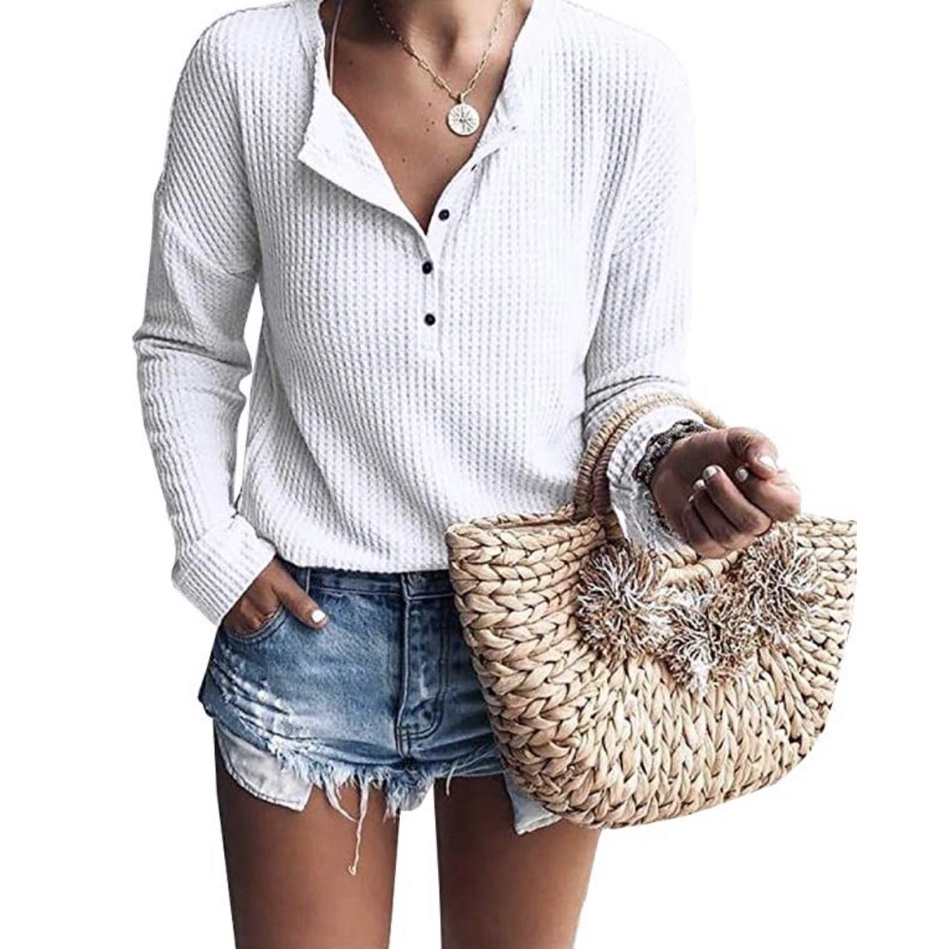 Amazon fashion, waffle knit henley, Nordstrom dupe