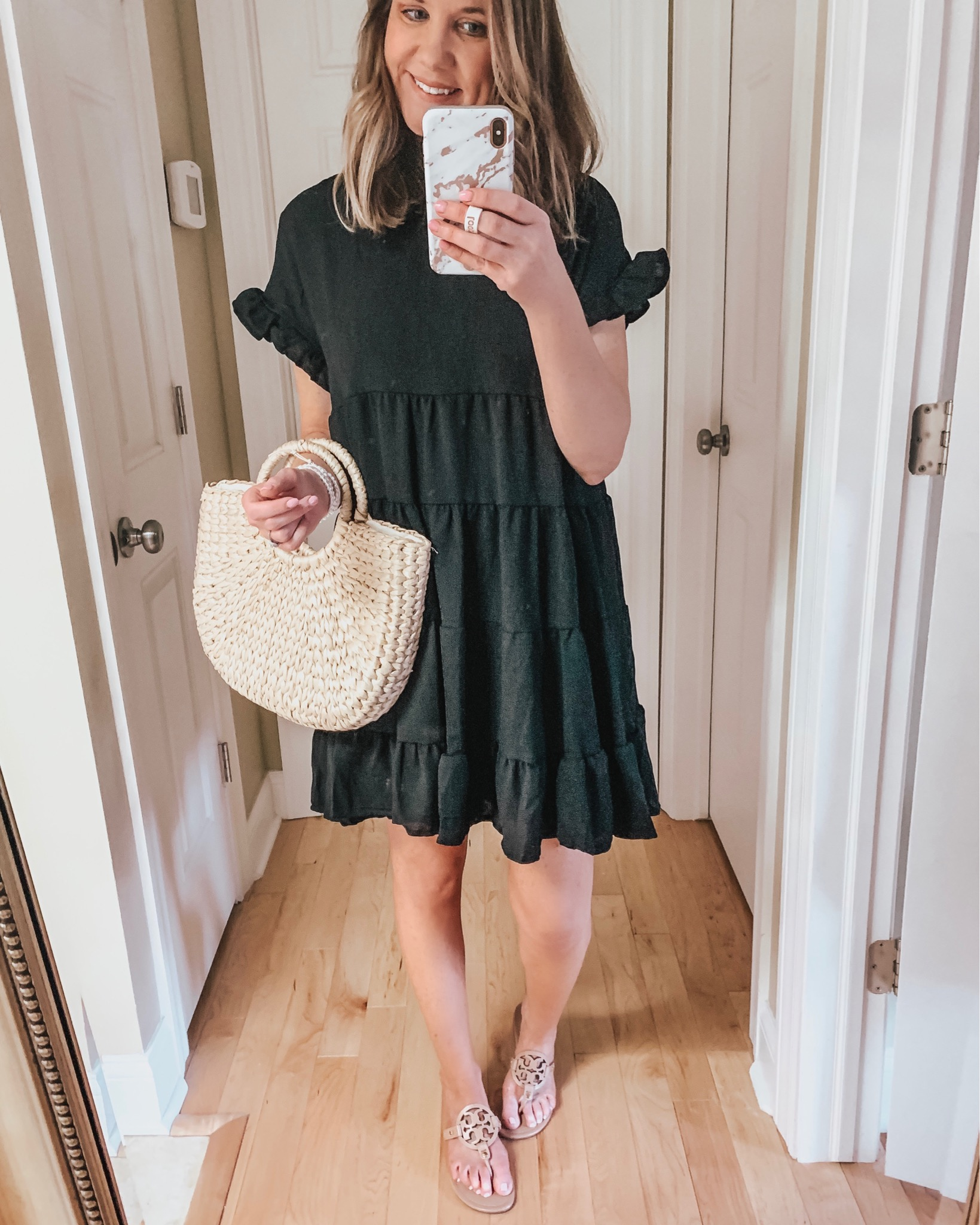 Summer Best Sellers, Amazon babydoll tiered ruffle dress, summer dresses, little black dress