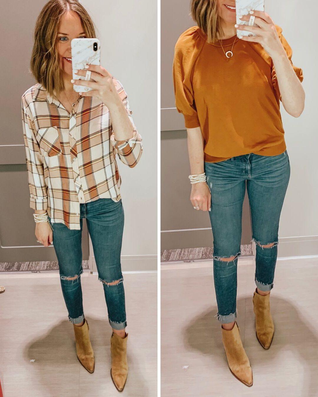Target fall fashion preview 2019 plaid shirt, Universal Thread jeans