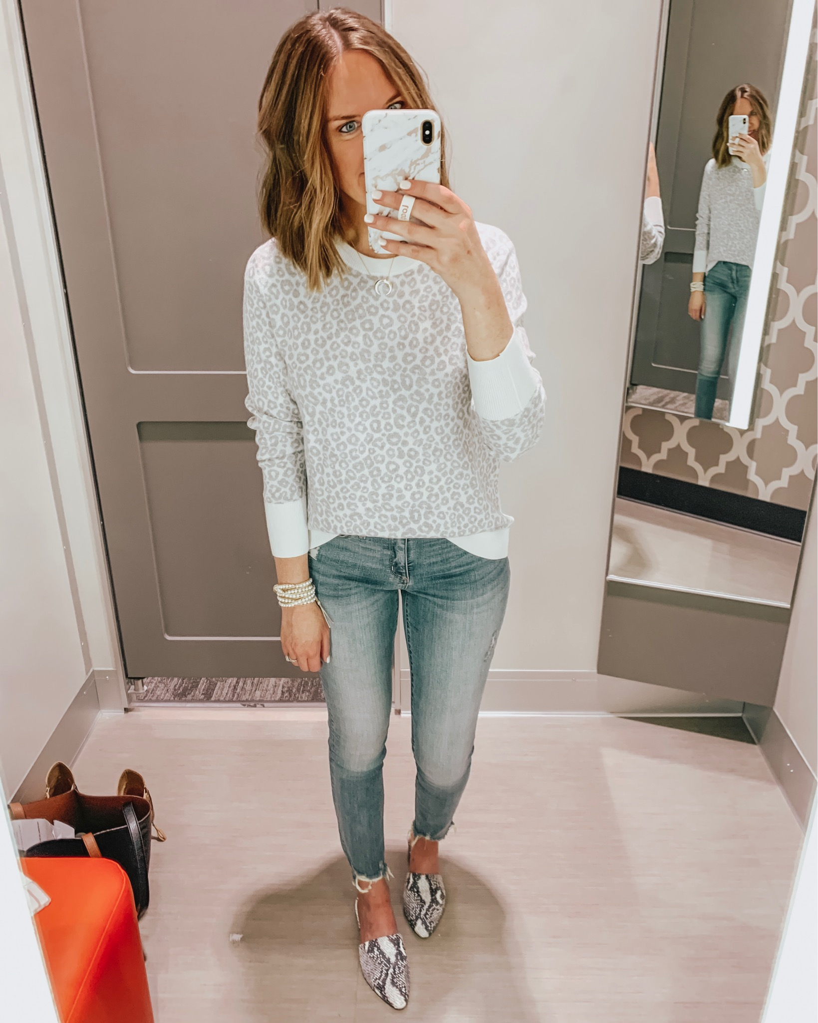 Target fall fashion preview 2019, grey leopard sweater