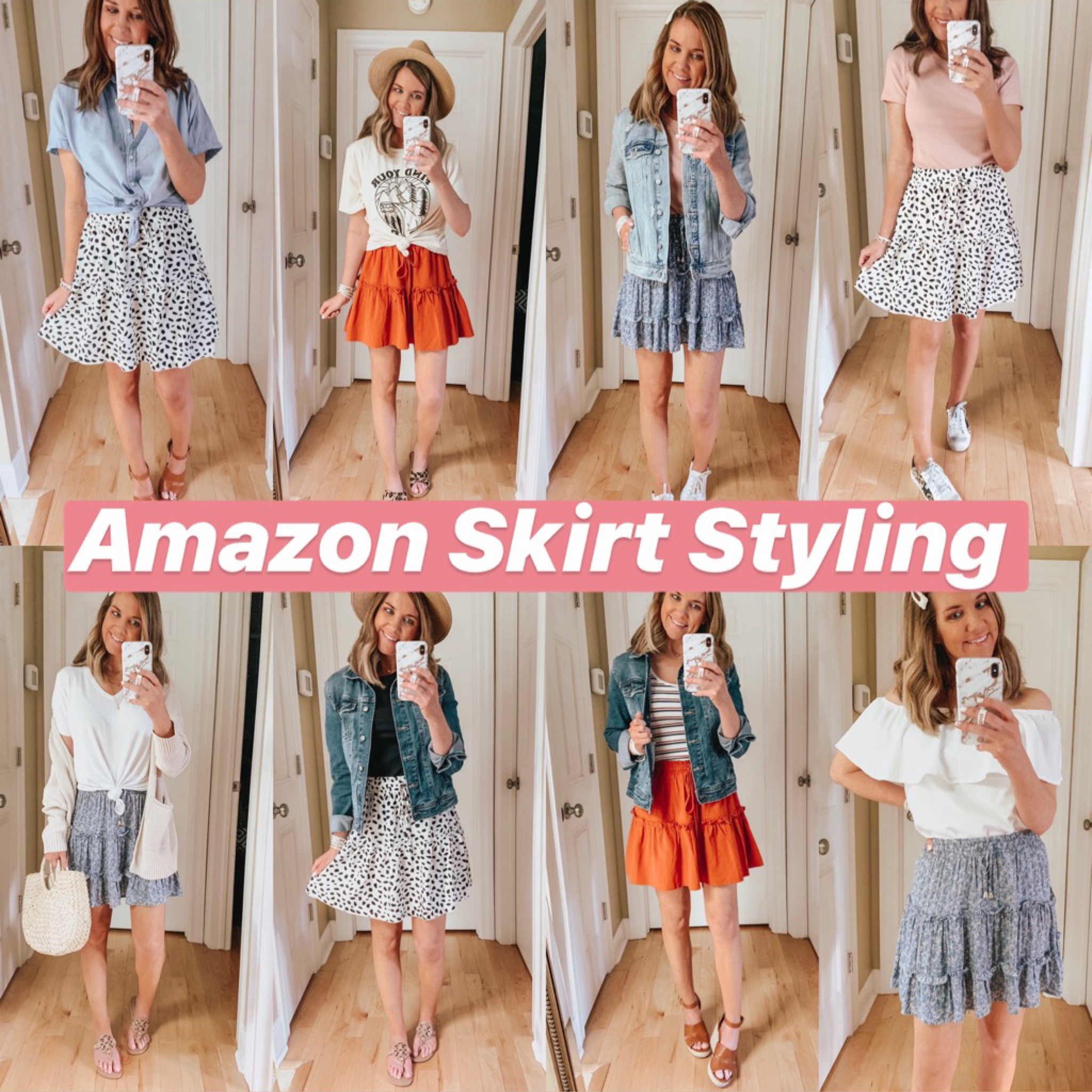 Summer Best Sellers, fashion over 40, ruffle tiered mini skirt, amazon fashion, the most flattering skirt