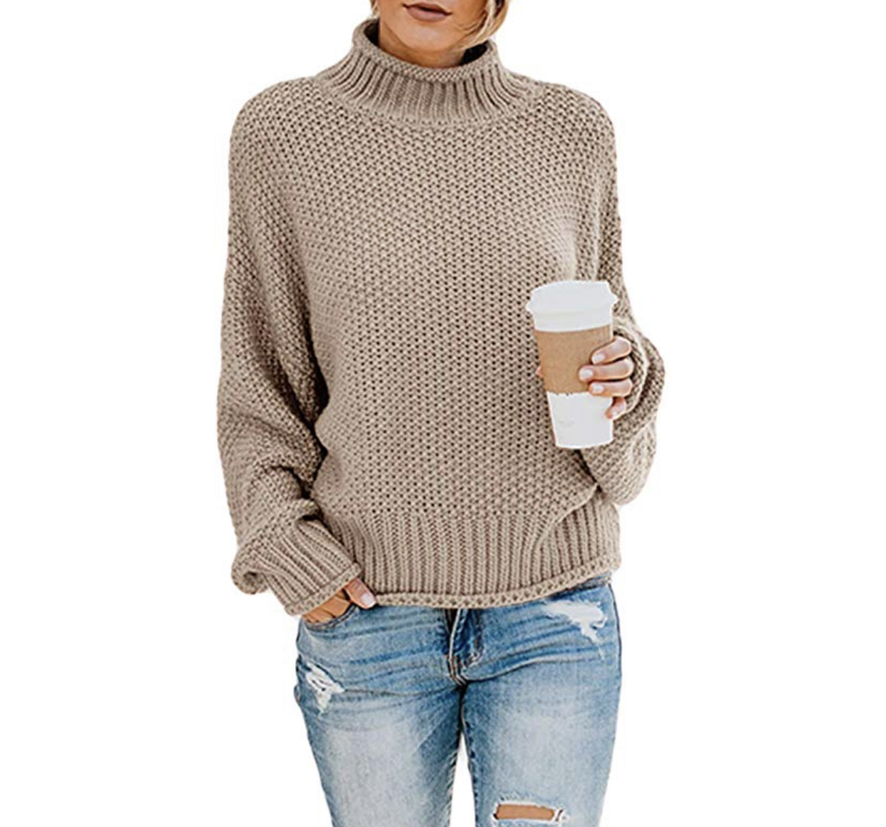 The Best Amazon Basics, the best wardrobe basics from Amazon, chunky mock neck sweater