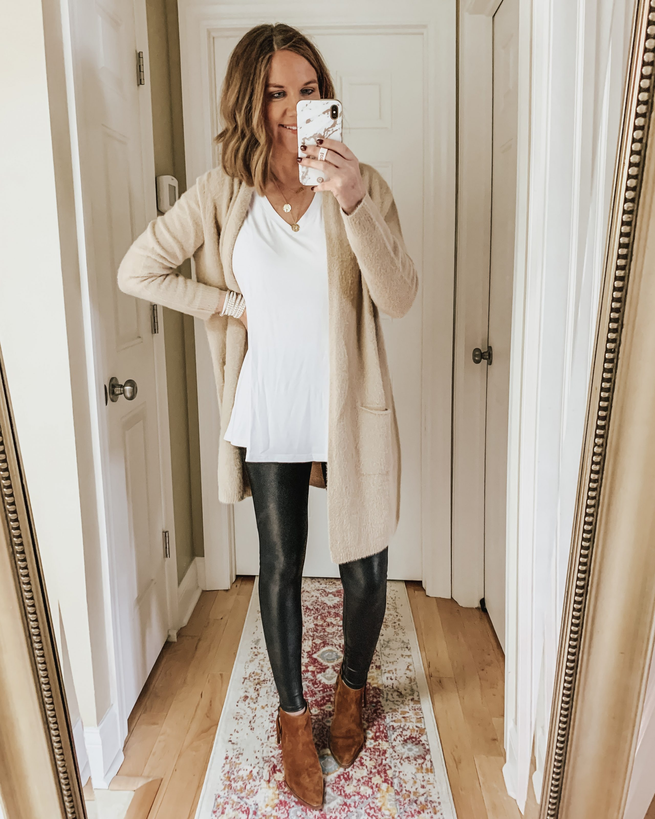 cardigan-and-leggings-outfit-style-leggings-leggings-outfits-spanx-faux-leather-leggings-amazon-finds
