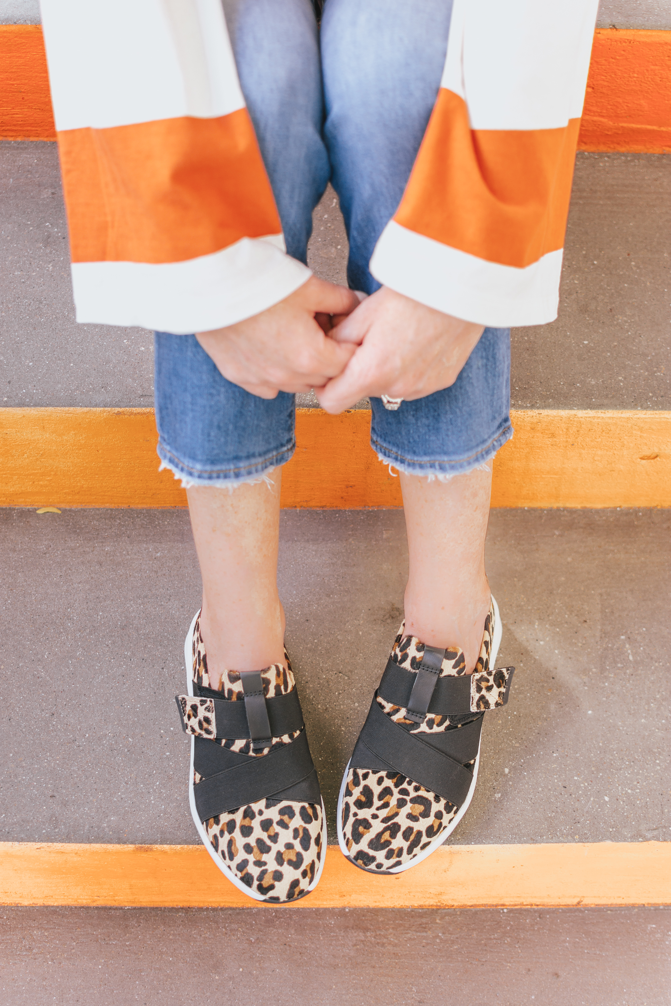 Zappos, Clarks Un Rio strap, leopard sneakers, how to incorporate leopard print into your wardrobe
