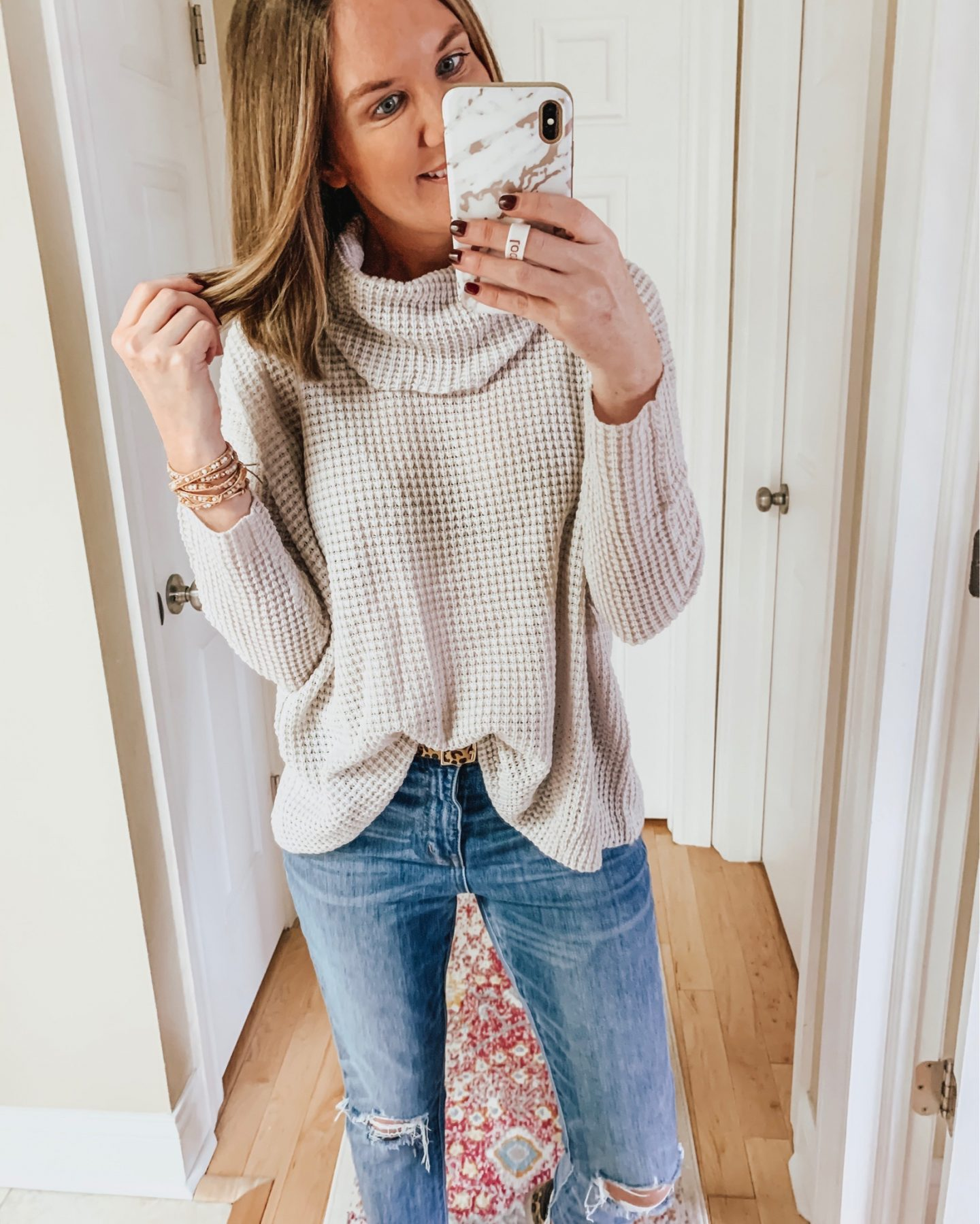 BB Dakota waffle knit turtleneck sweater