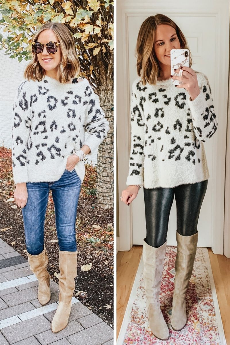 how to incorporate animal print into your wardrobe, leopard sweater