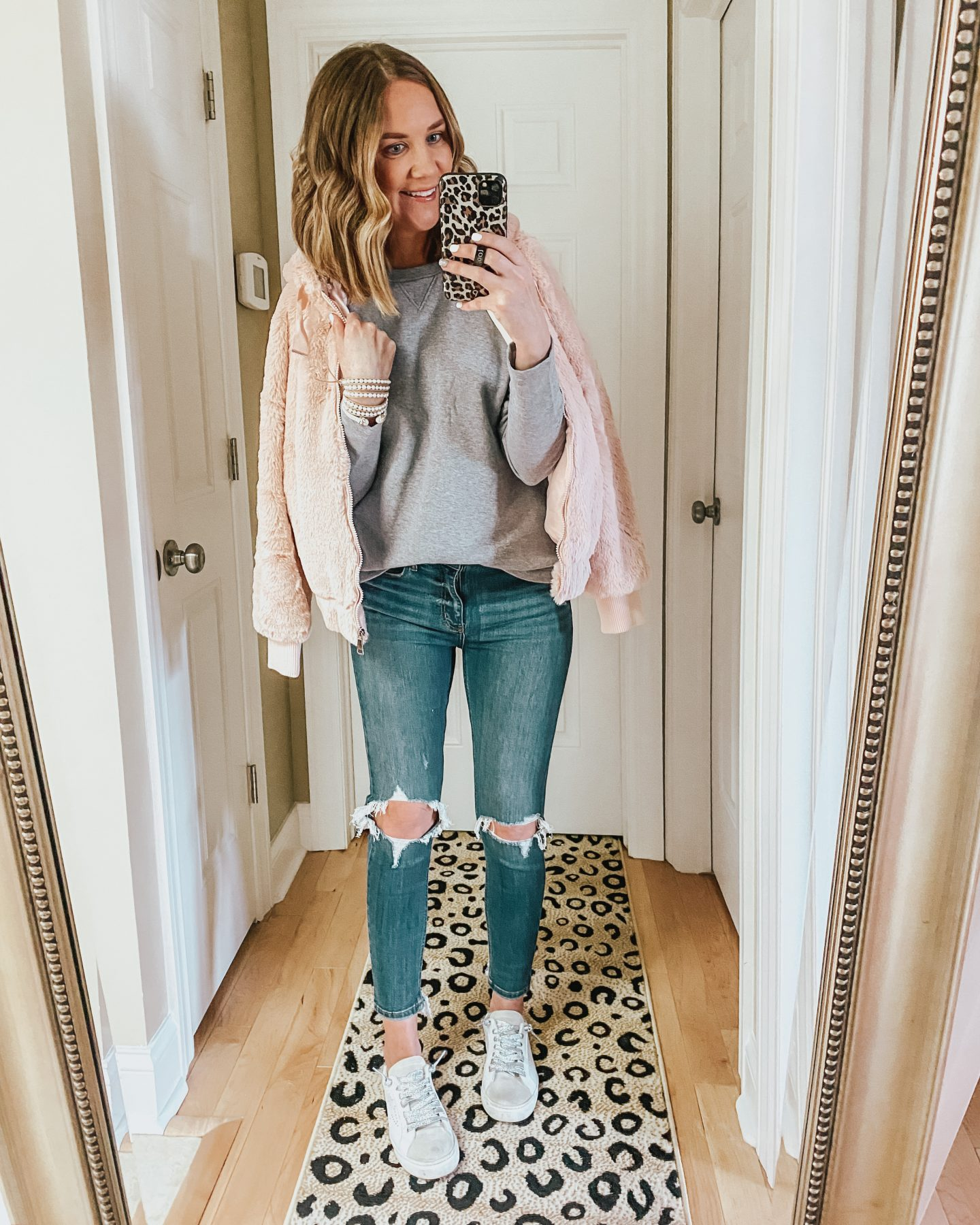 the best winter Amazon finds, pink faux fur coat