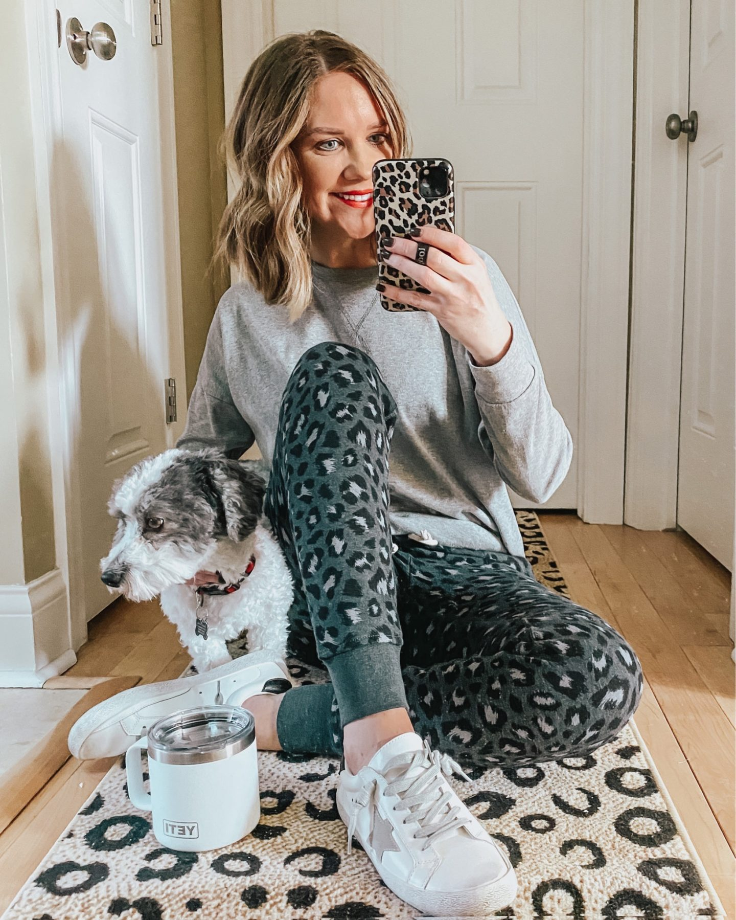 Amazon fashion, leopard joggers