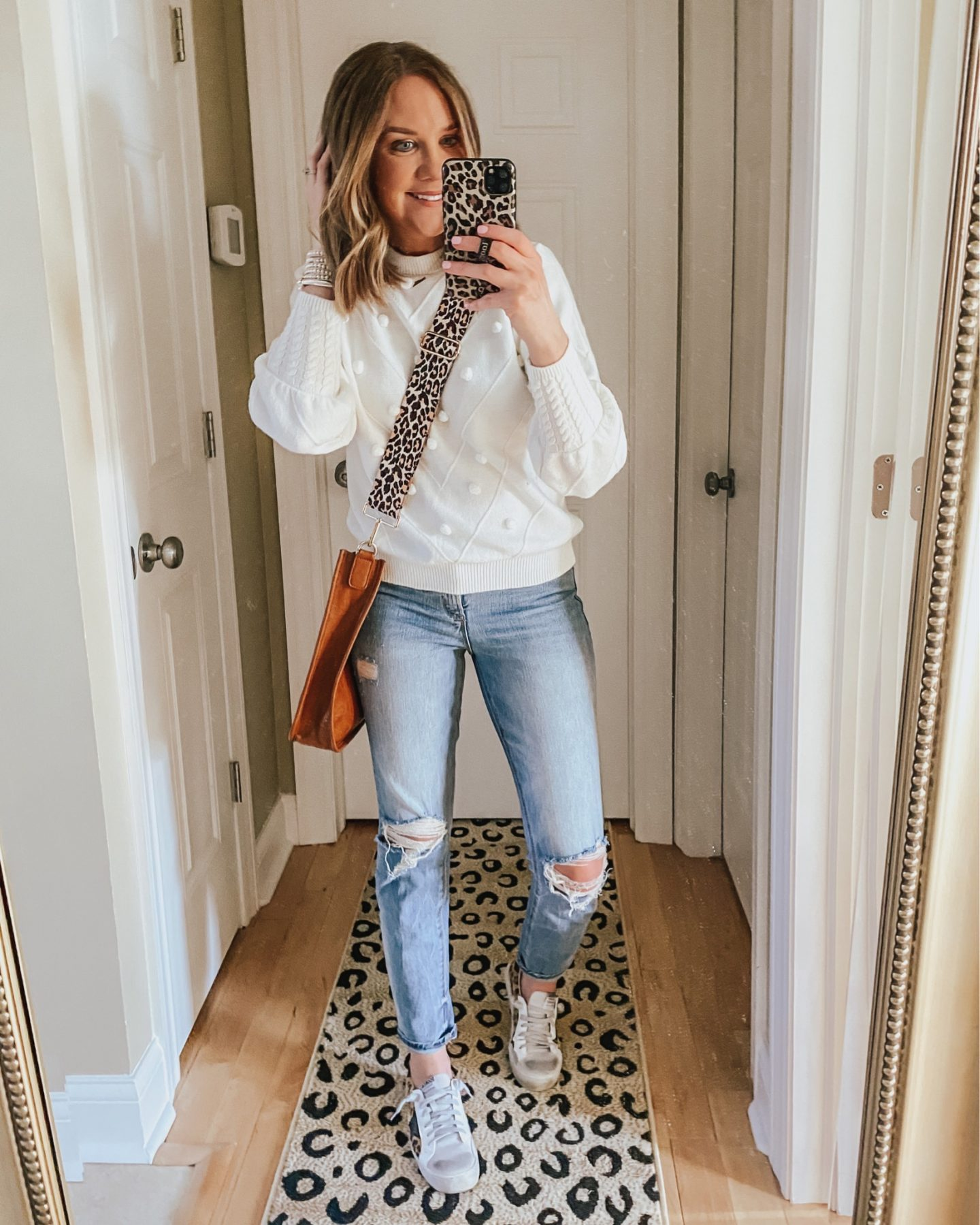 madewell pompom sweater dupe