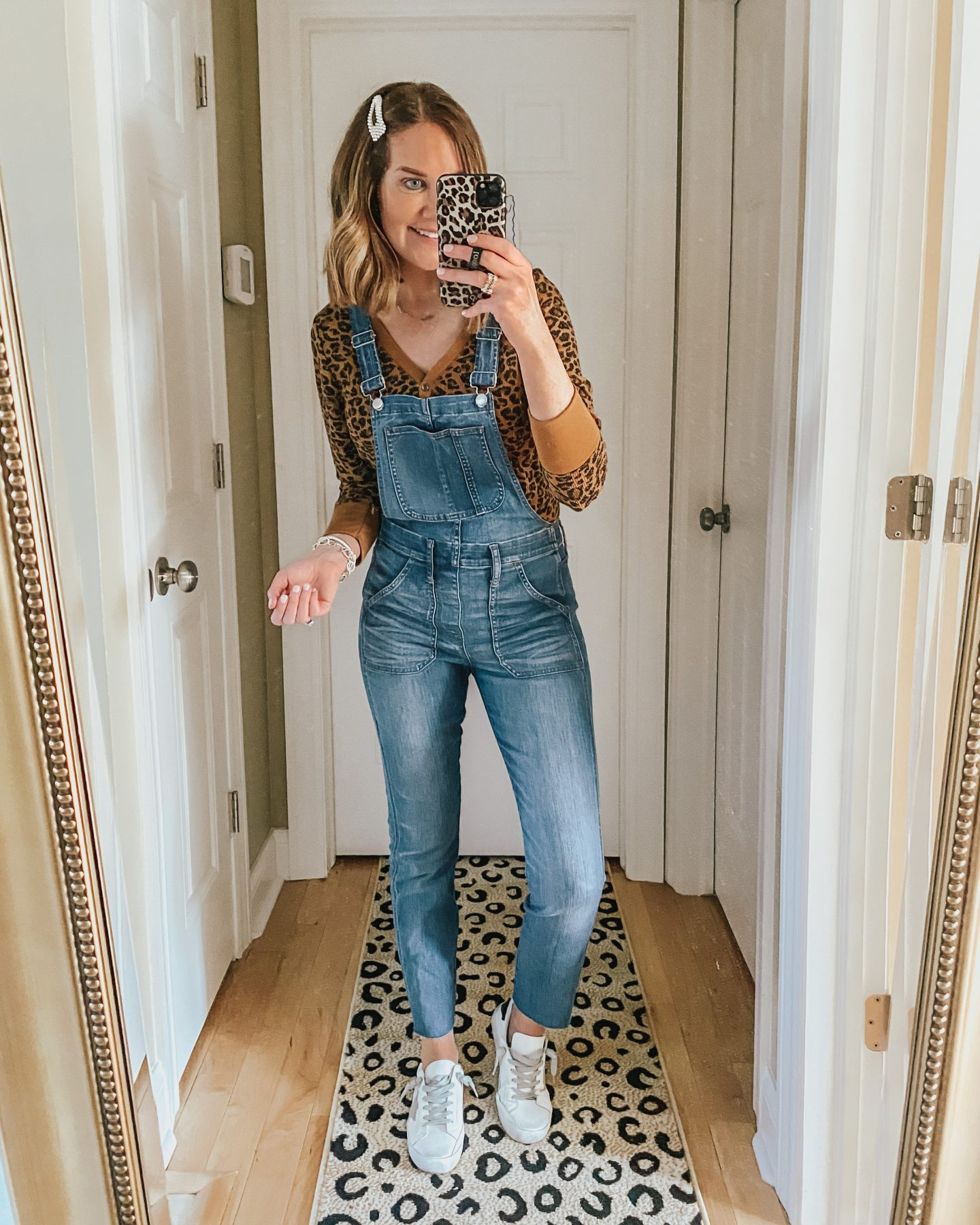 how to wear overalls over 40, the most flattering overalls