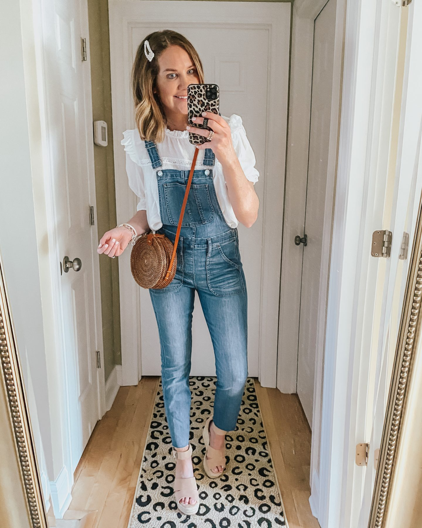 5 Ways to Style Overalls for Winter Through Summer, dressed up overall outfit