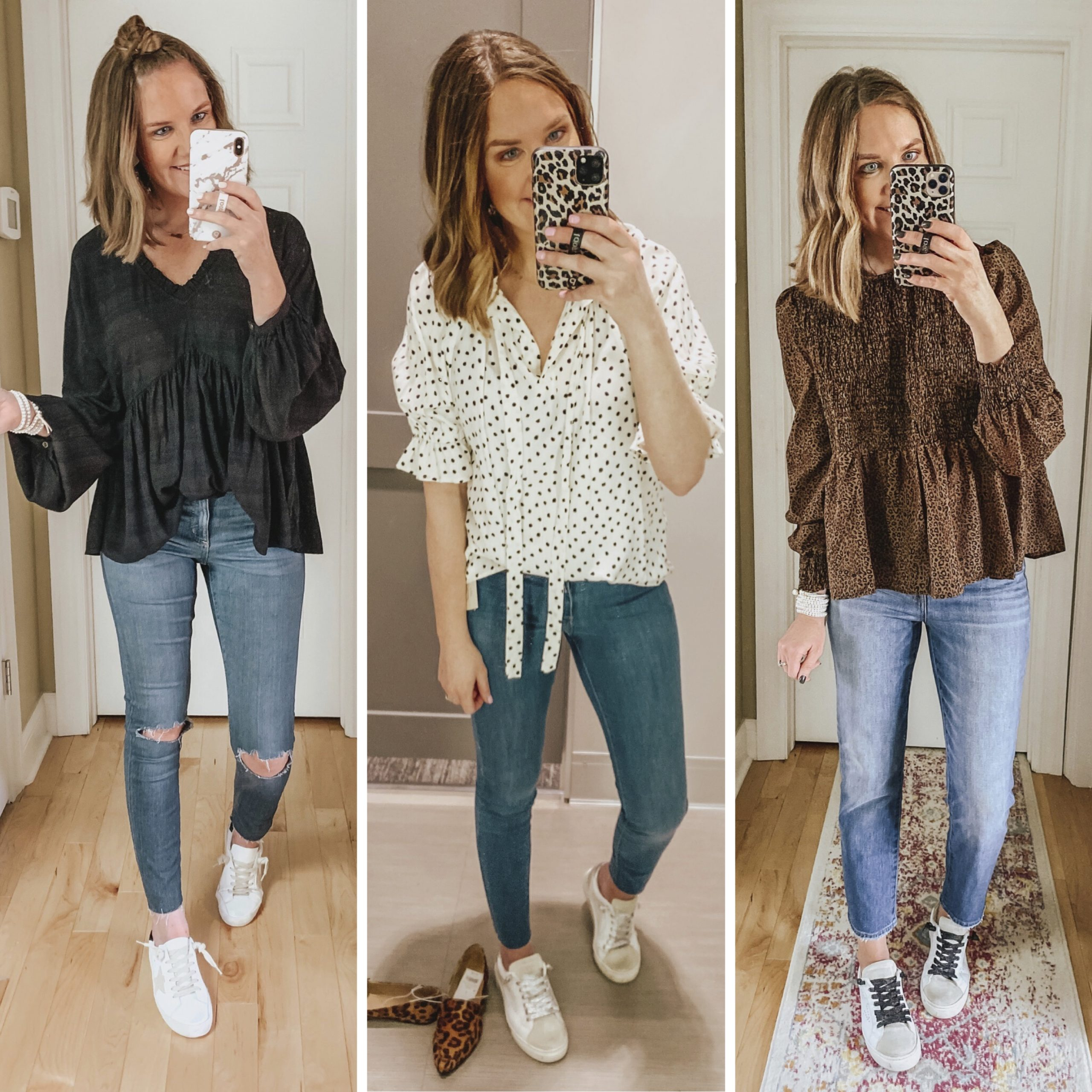 sneakers-and-a-feminine-blouse - Wishes