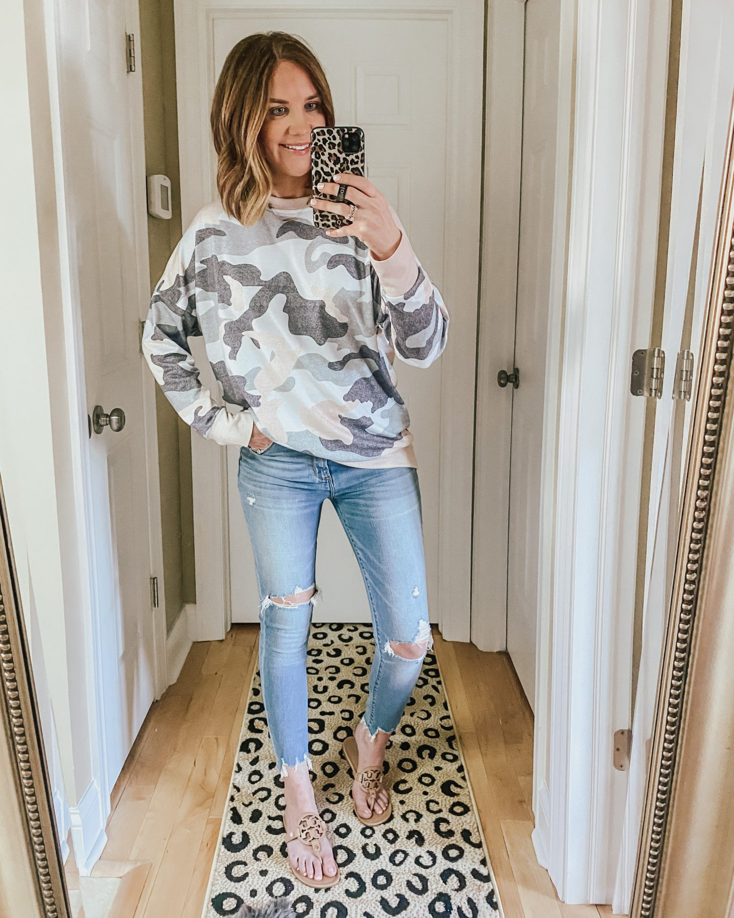 the best amazon finds for spring and summer, camo sweatshirt