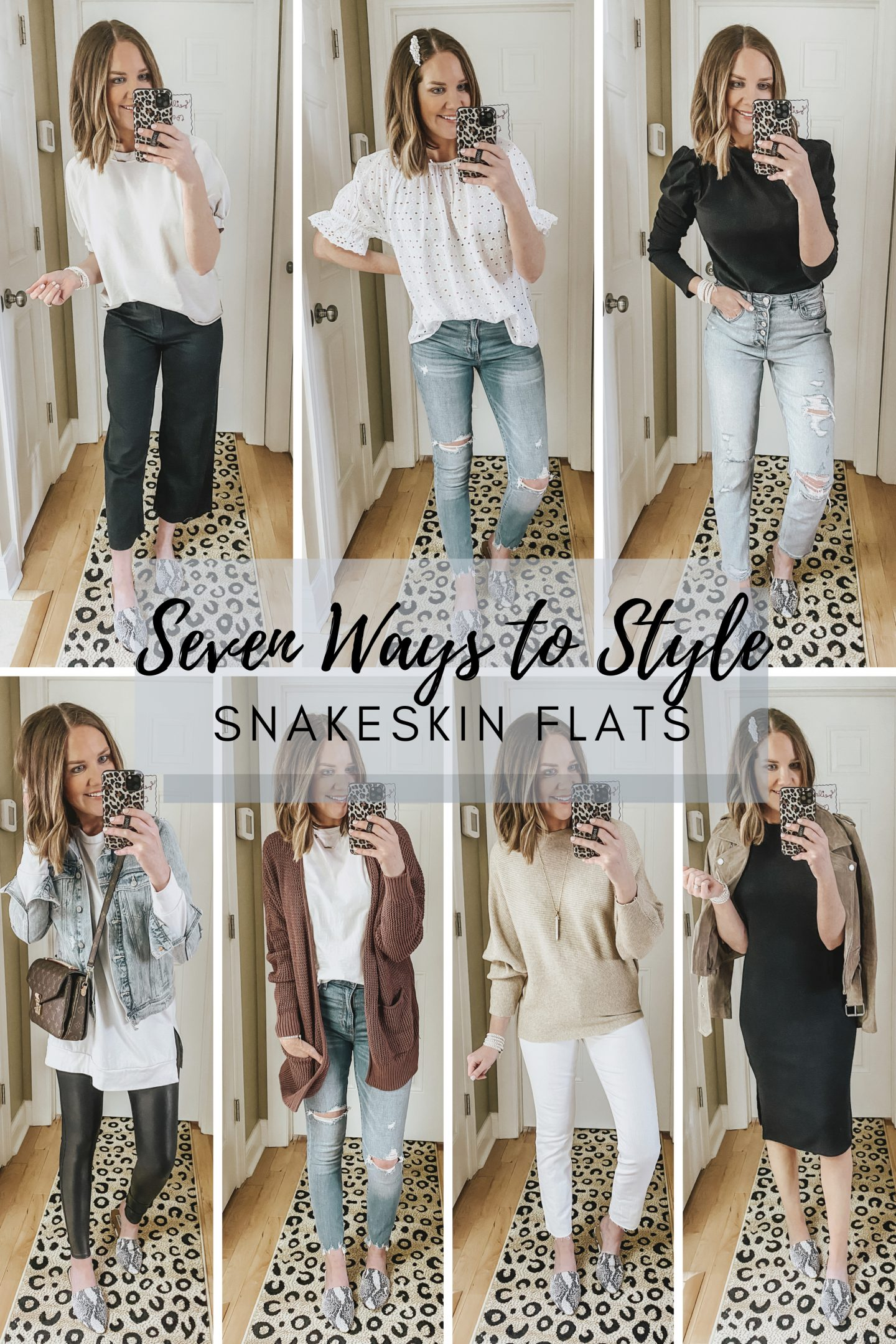 Seven Ways to to Style Snakeskin Flats