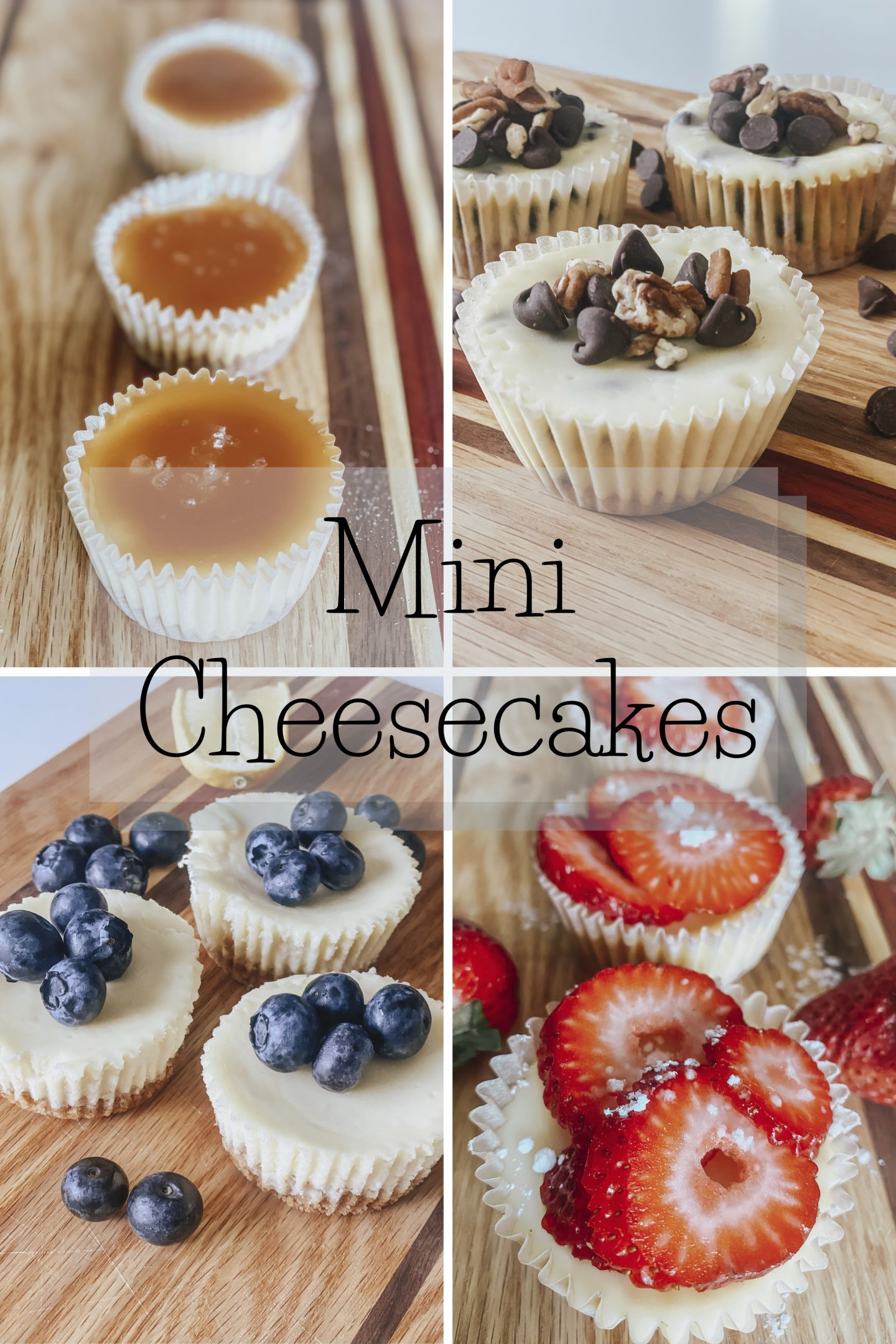 Mini Cheesecakes Five Varieties