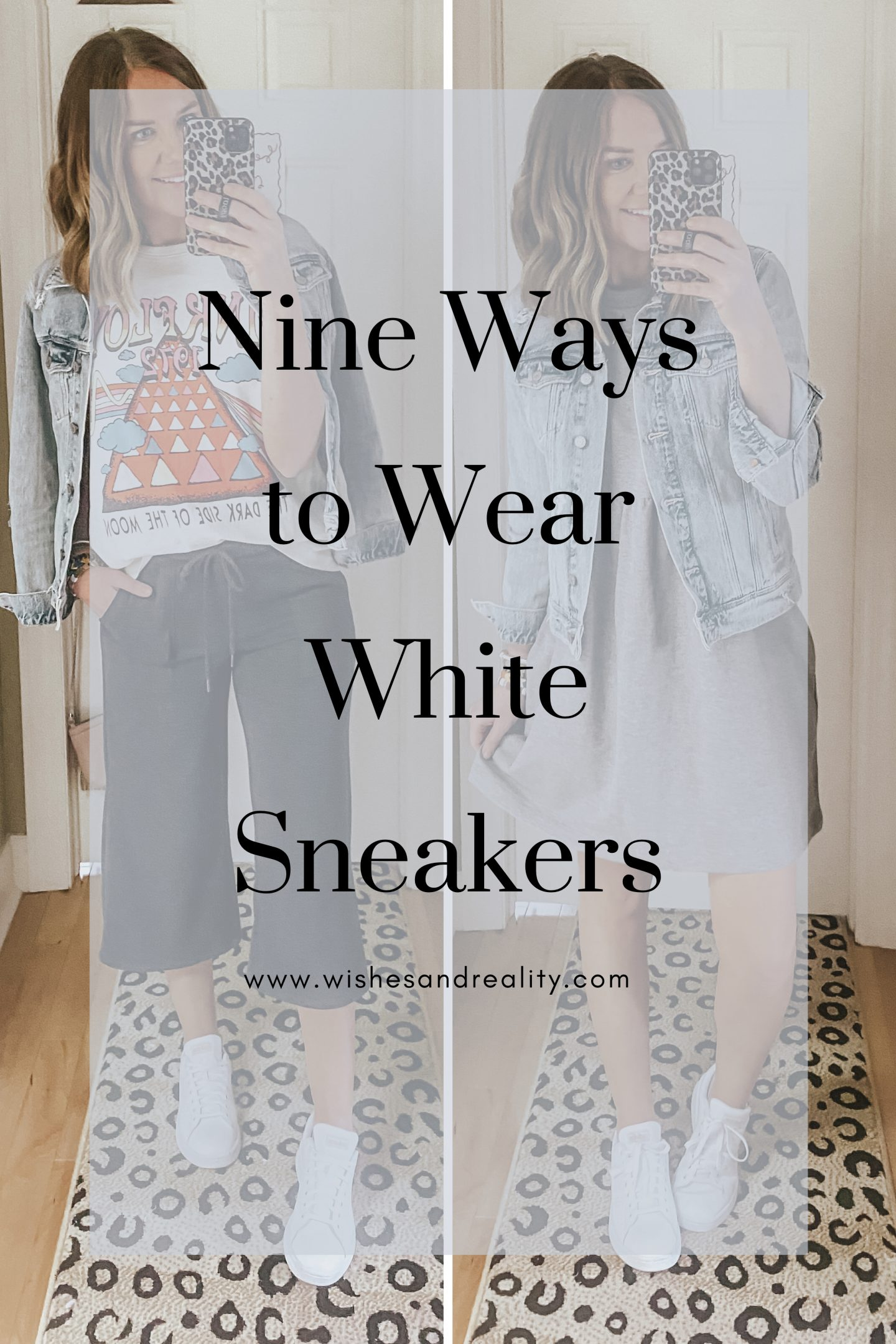 Nine Ways to Wear White Sneakers