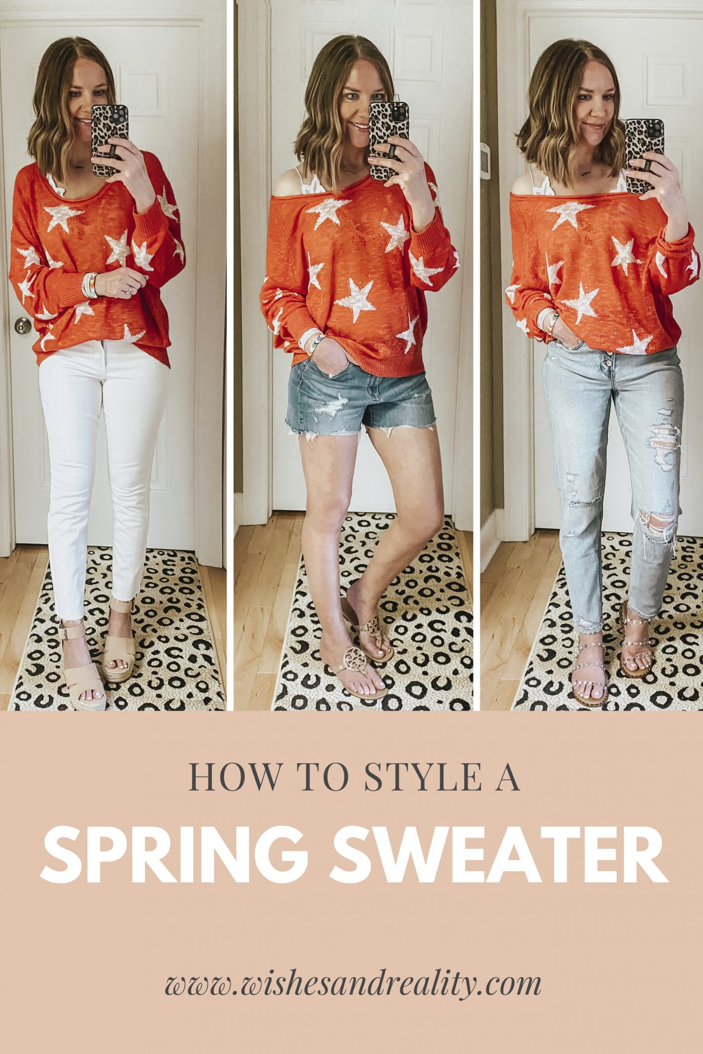 how to style a spring sweater