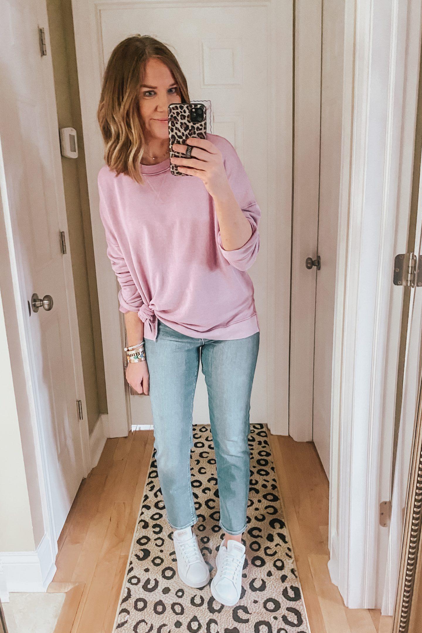 pastel tunic sweatshirt