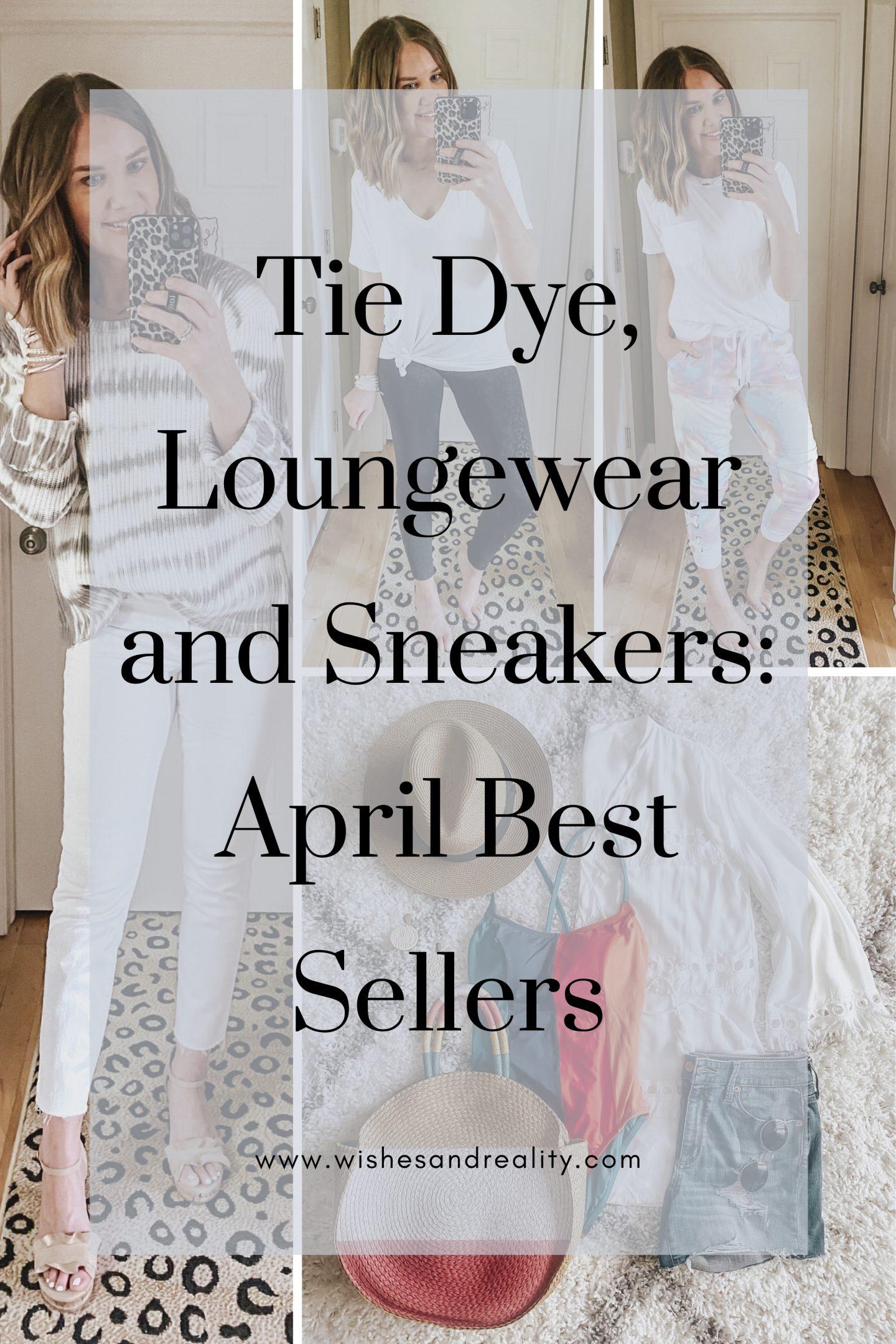 Tie dye, loungewear, sneakers, Walmart Fashion, April best sellers