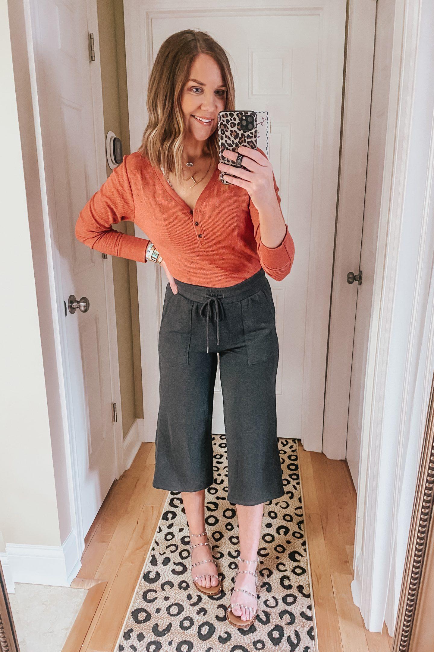 wide leg cropped pants, walmart fashion
