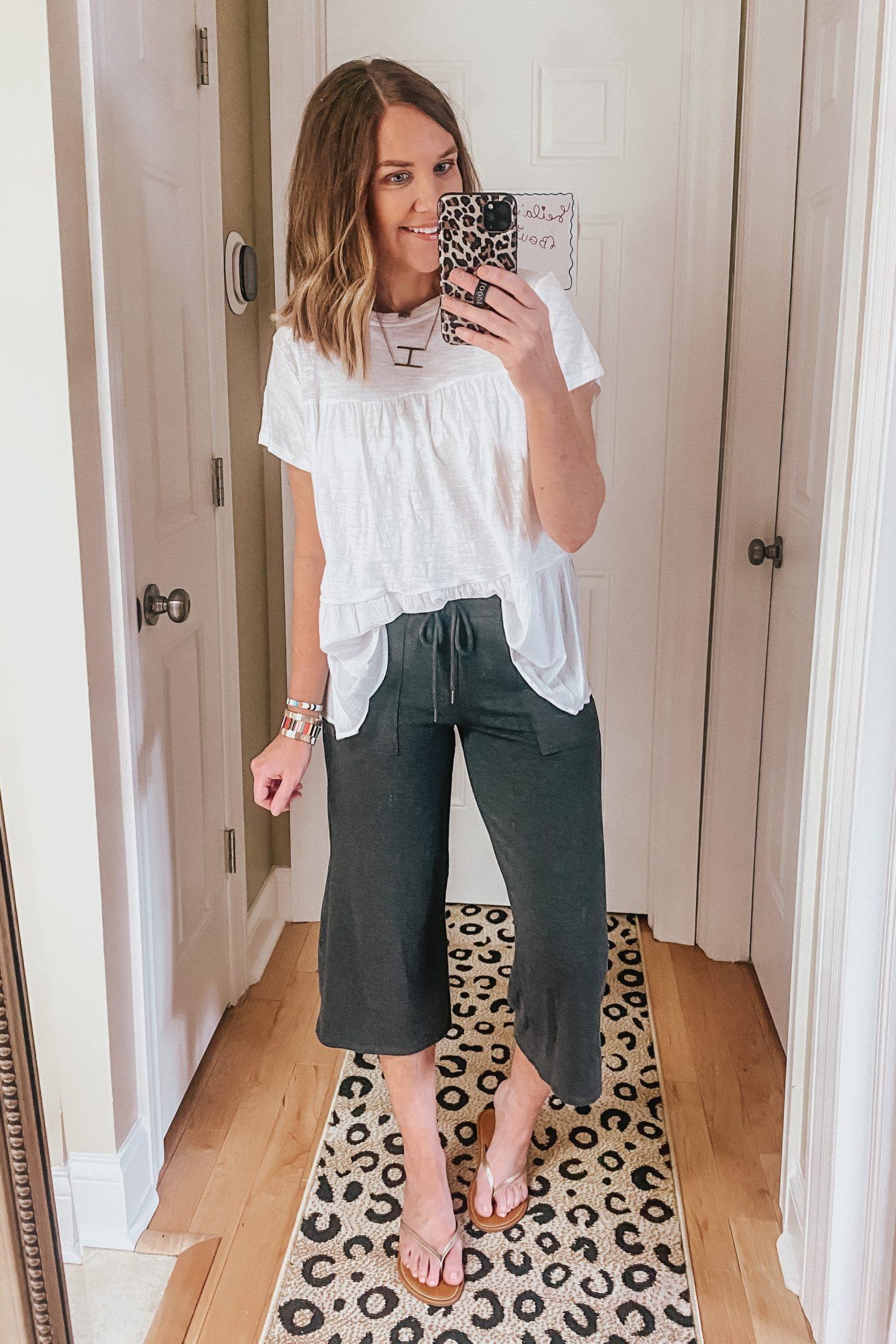 wide leg cropped pants, Walmart finds, Walmart fashion